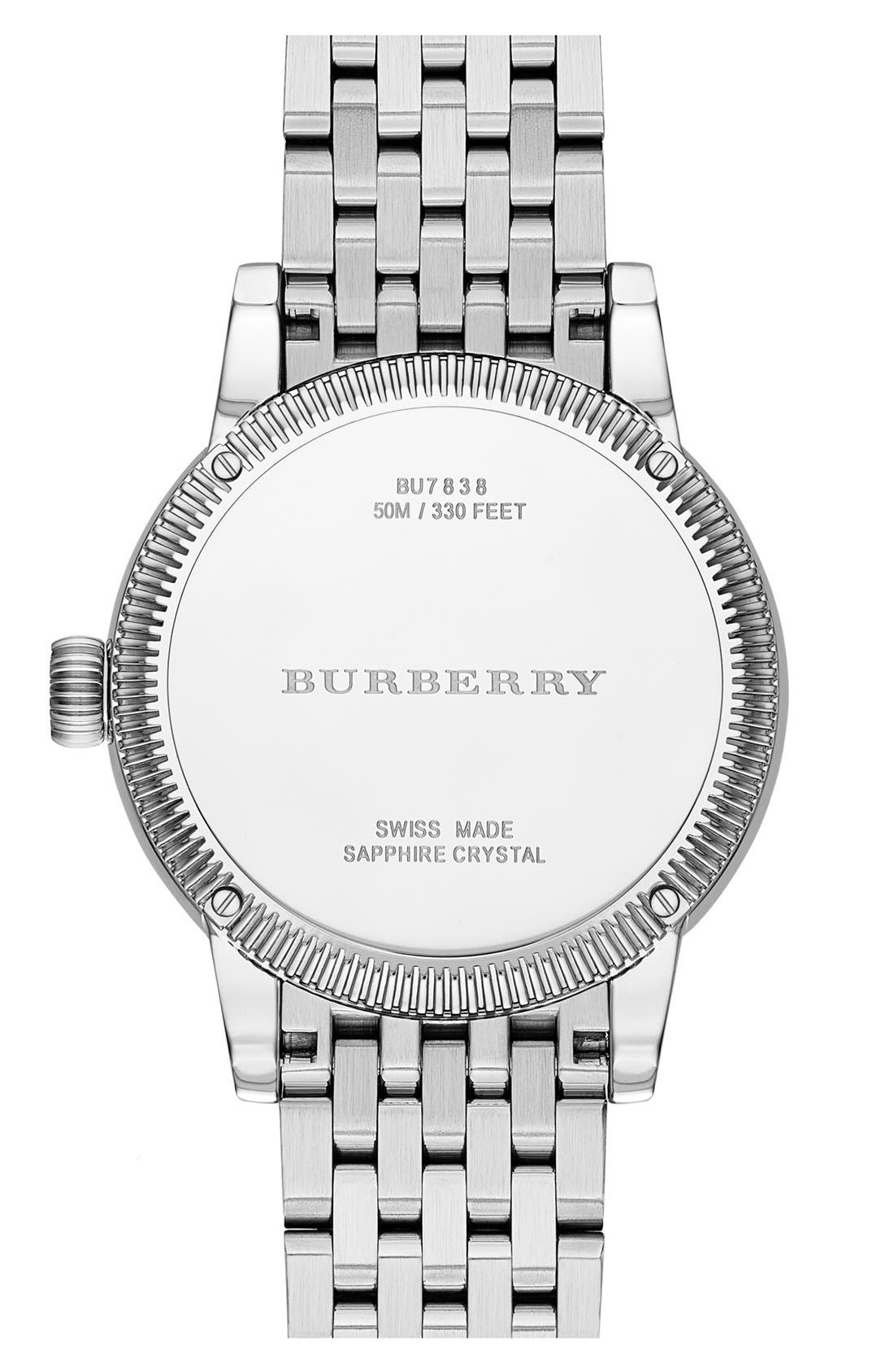 Alternate Image 2  - Burberry Round Bracelet Watch, 38mm