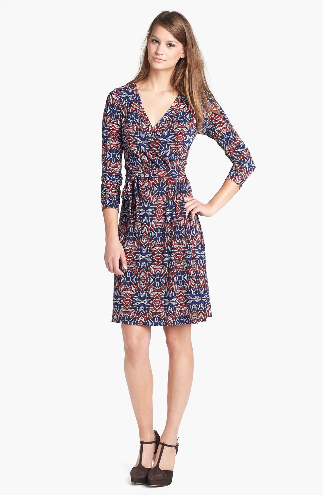 Main Image - Anne Klein Print Faux Wrap Dress (Petite)