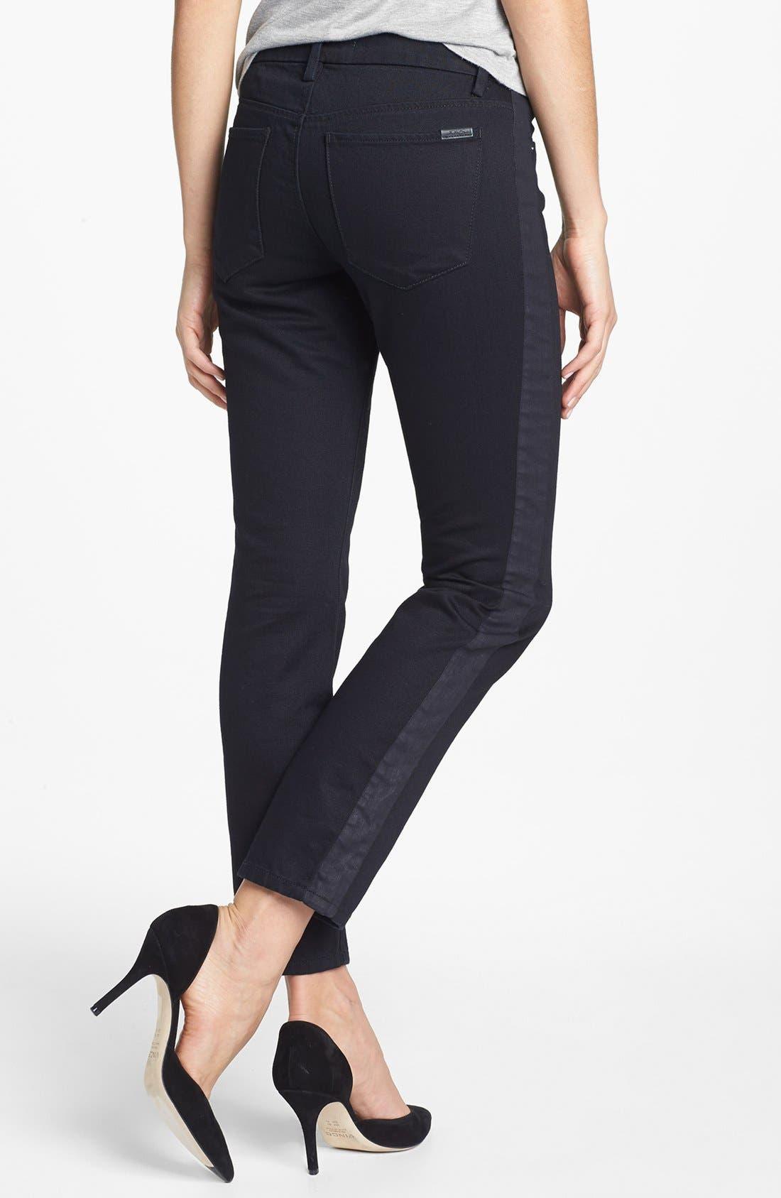 Alternate Image 2  - Joe's Tuxedo Stripe Skinny Ankle Jeans (Pia)