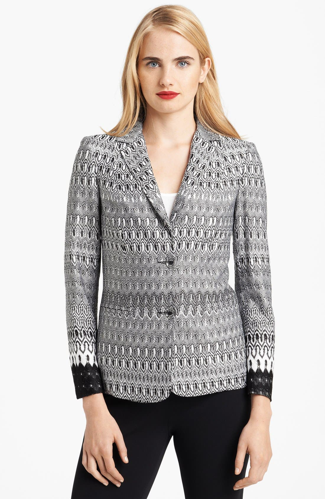 Alternate Image 1 Selected - Missoni Irregular Stitch Blazer