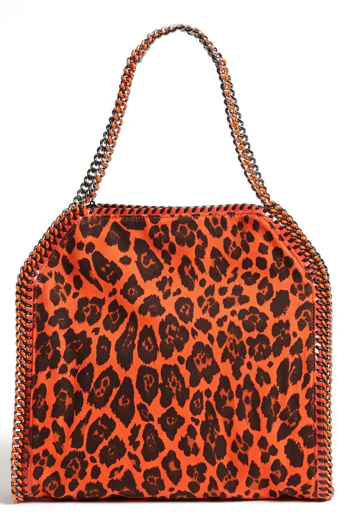 Alternate Image 4  - Stella McCartney 'Falabella -Small' Leopard Print Tote