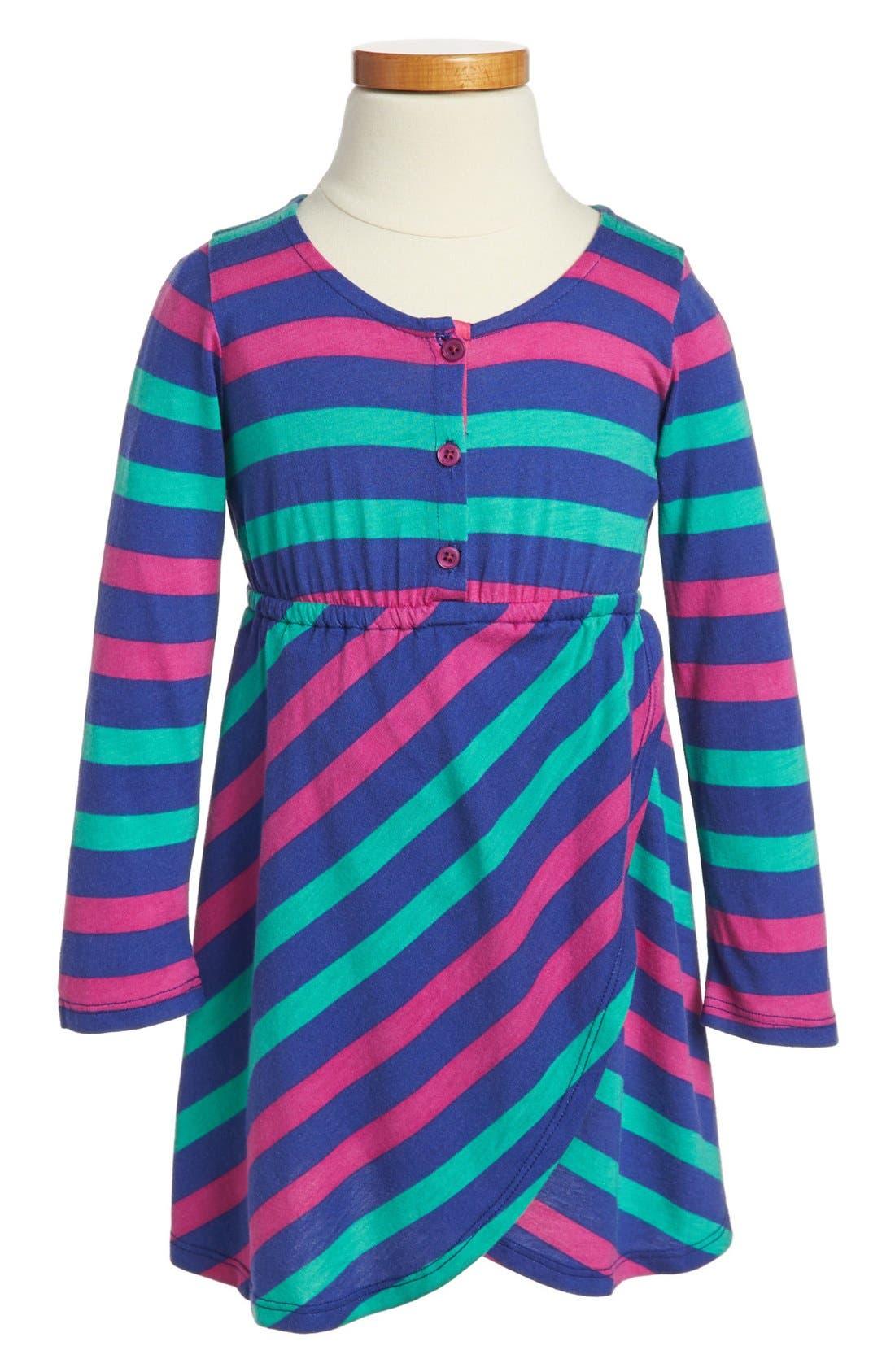 Alternate Image 1 Selected - Splendid Rugby Stripe Dress (Toddler Girls)
