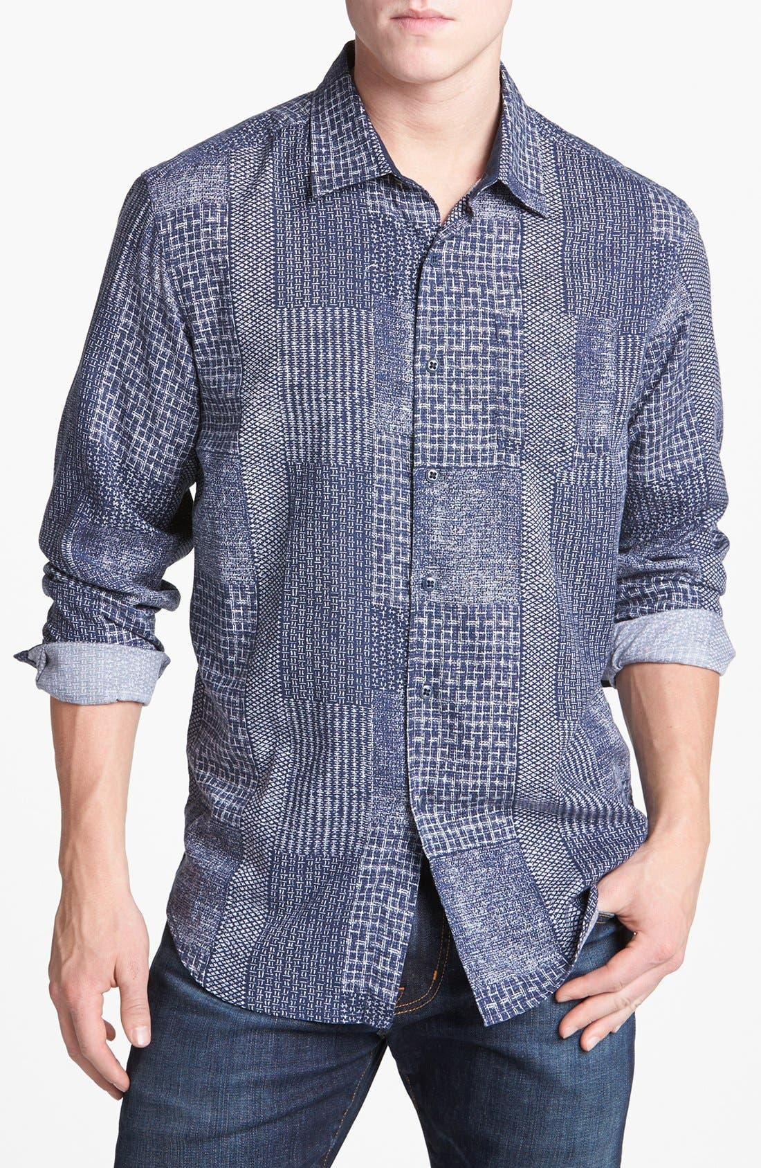Main Image - Tommy Bahama Denim 'Indigo Crush' Island Modern Fit Sport Shirt