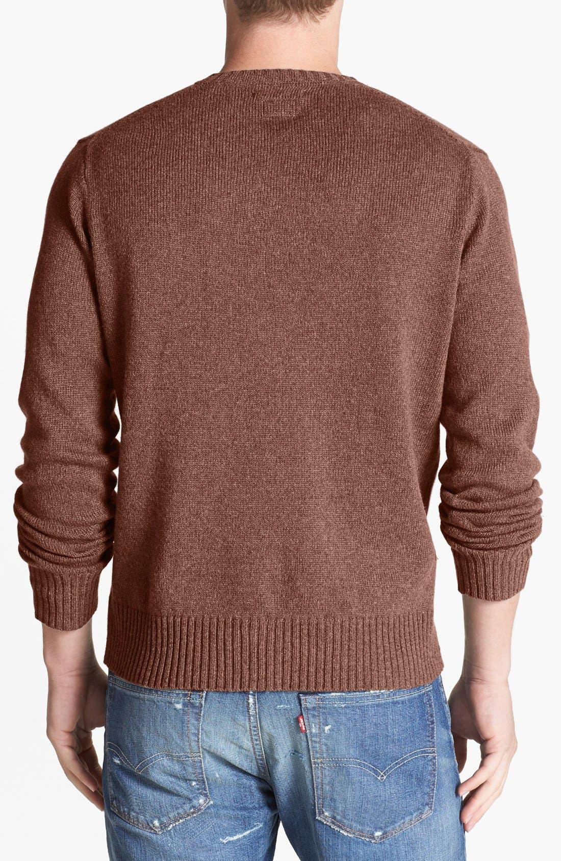 Alternate Image 2  - RVCA 'Briza' Crewneck Sweater