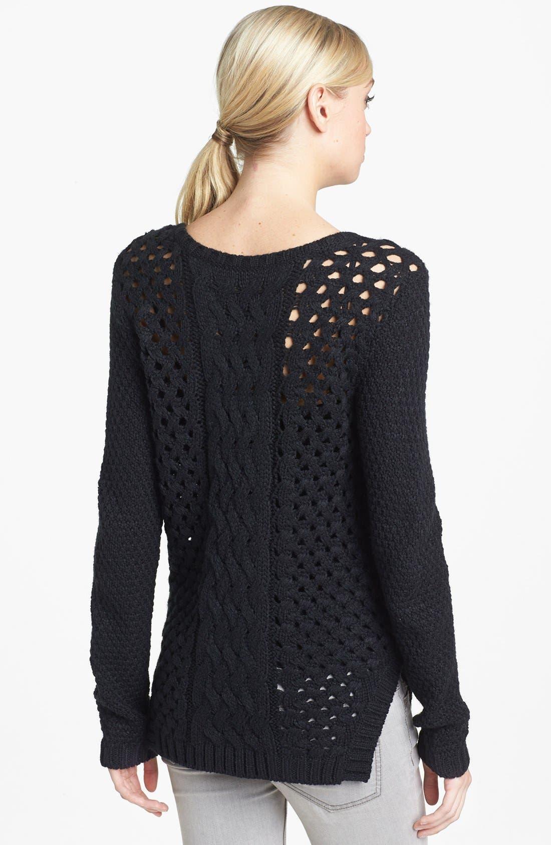 Alternate Image 2  - Trouvé Chain Detail Mix Knit Sweater