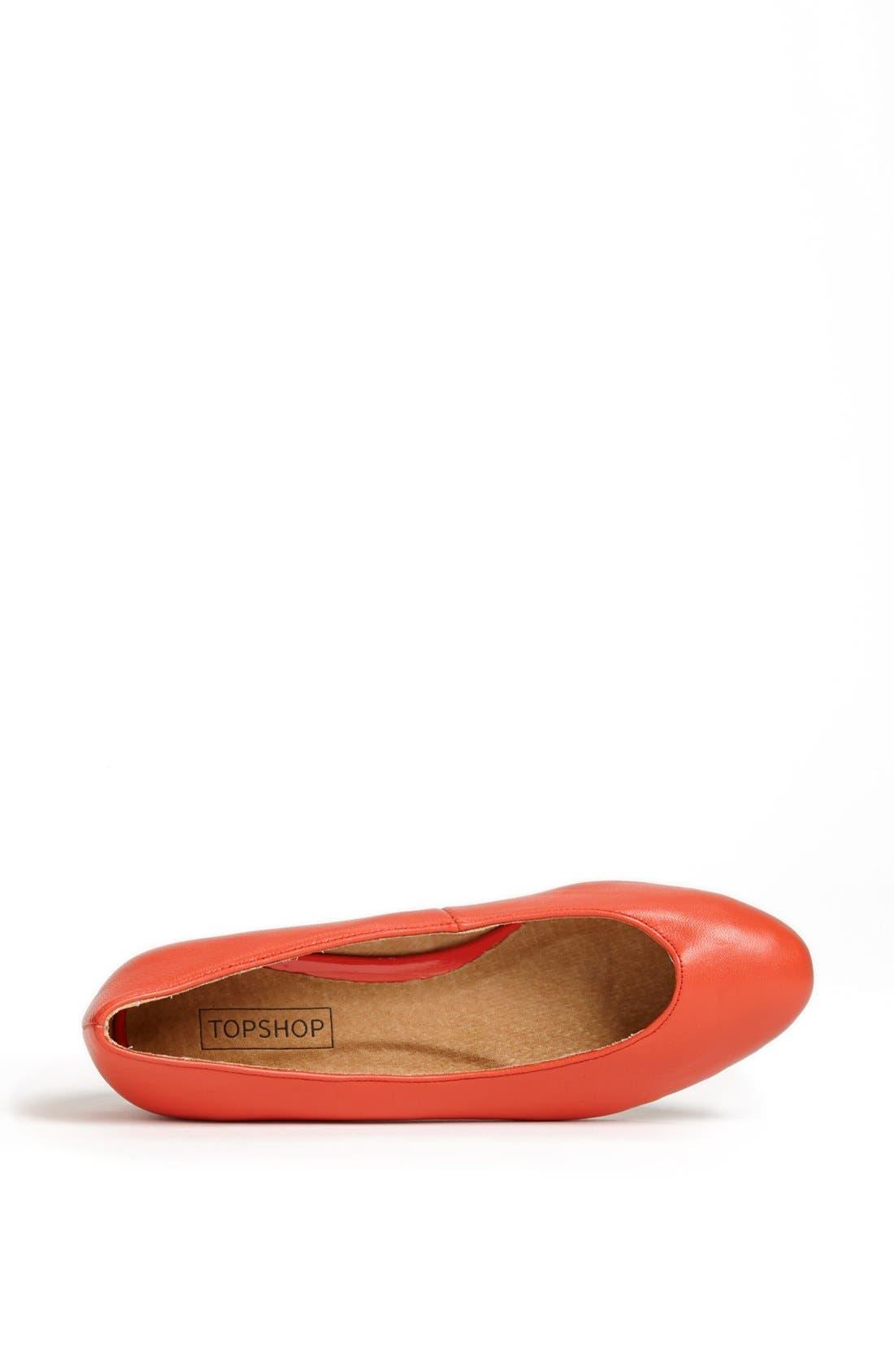 Alternate Image 3  - Topshop 'Mello - Mini Wedge' Court Shoe