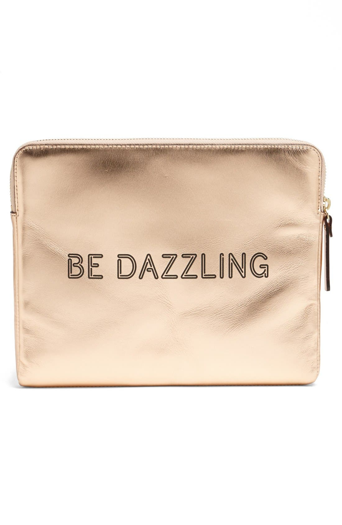 'be dazzling' iPad sleeve,                             Alternate thumbnail 4, color,                             Rose Gold