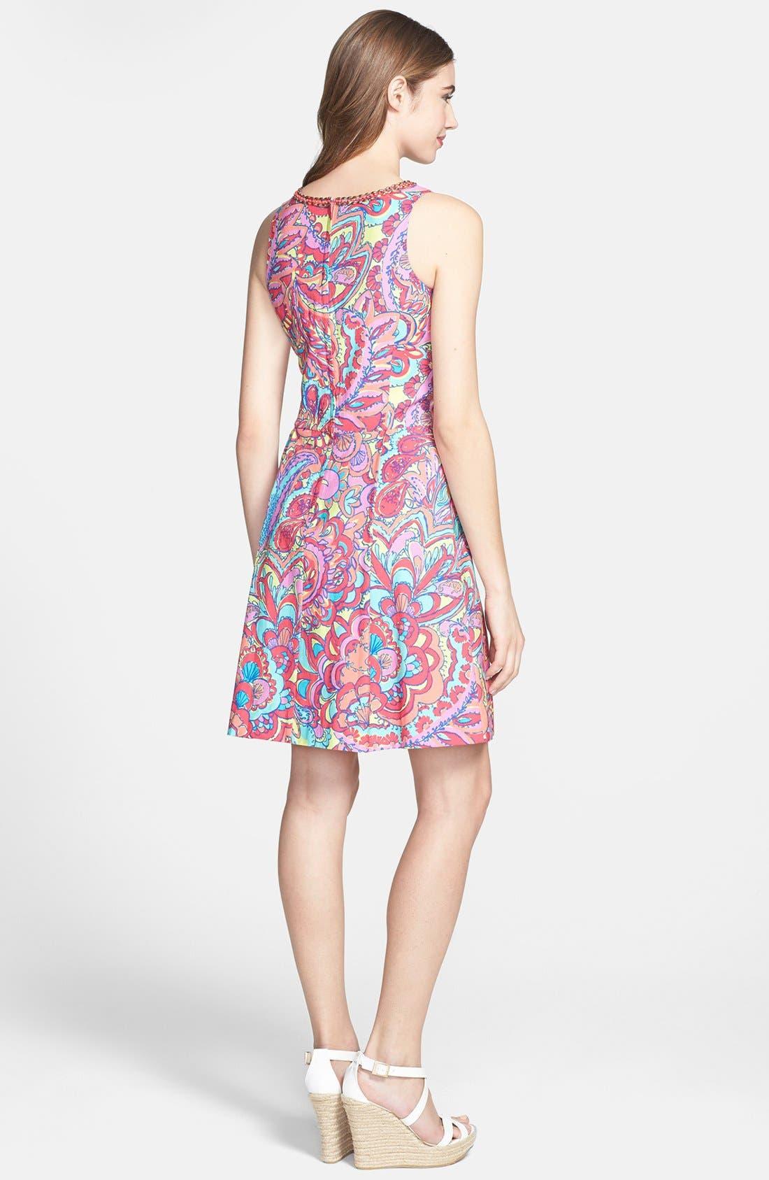 Alternate Image 2  - Lilly Pulitzer® 'Lloyd' Print Shantung Fit & Flare Dress