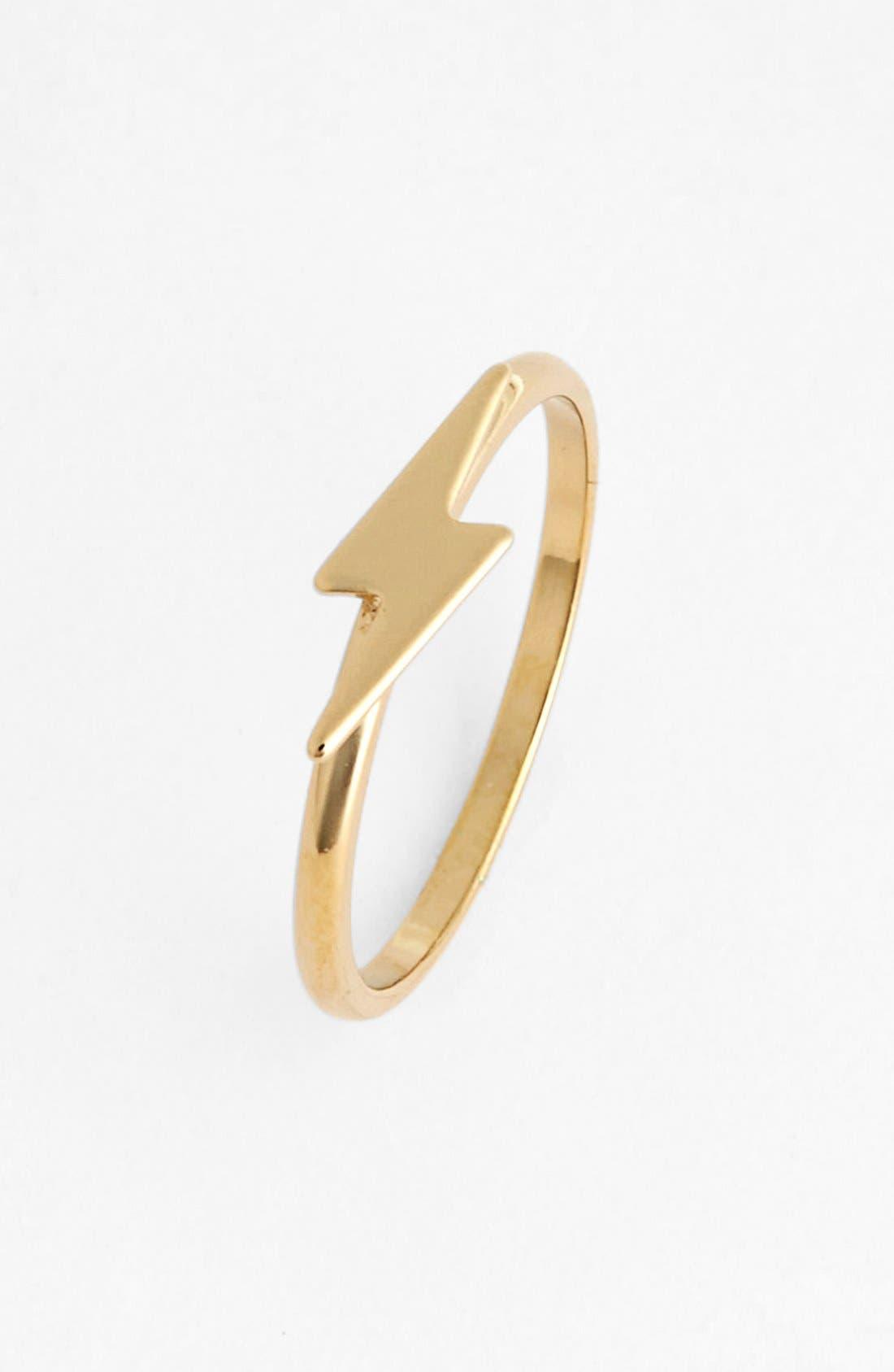 Main Image - Rachel Lightning Bolt Midi Ring (Juniors)