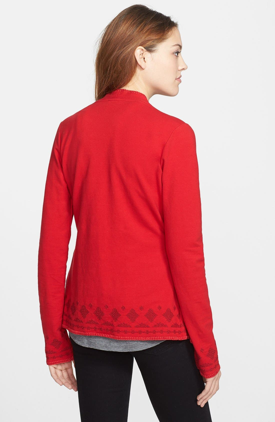 Alternate Image 2  - Lucky Brand 'Hannah' Embroidered Wrap