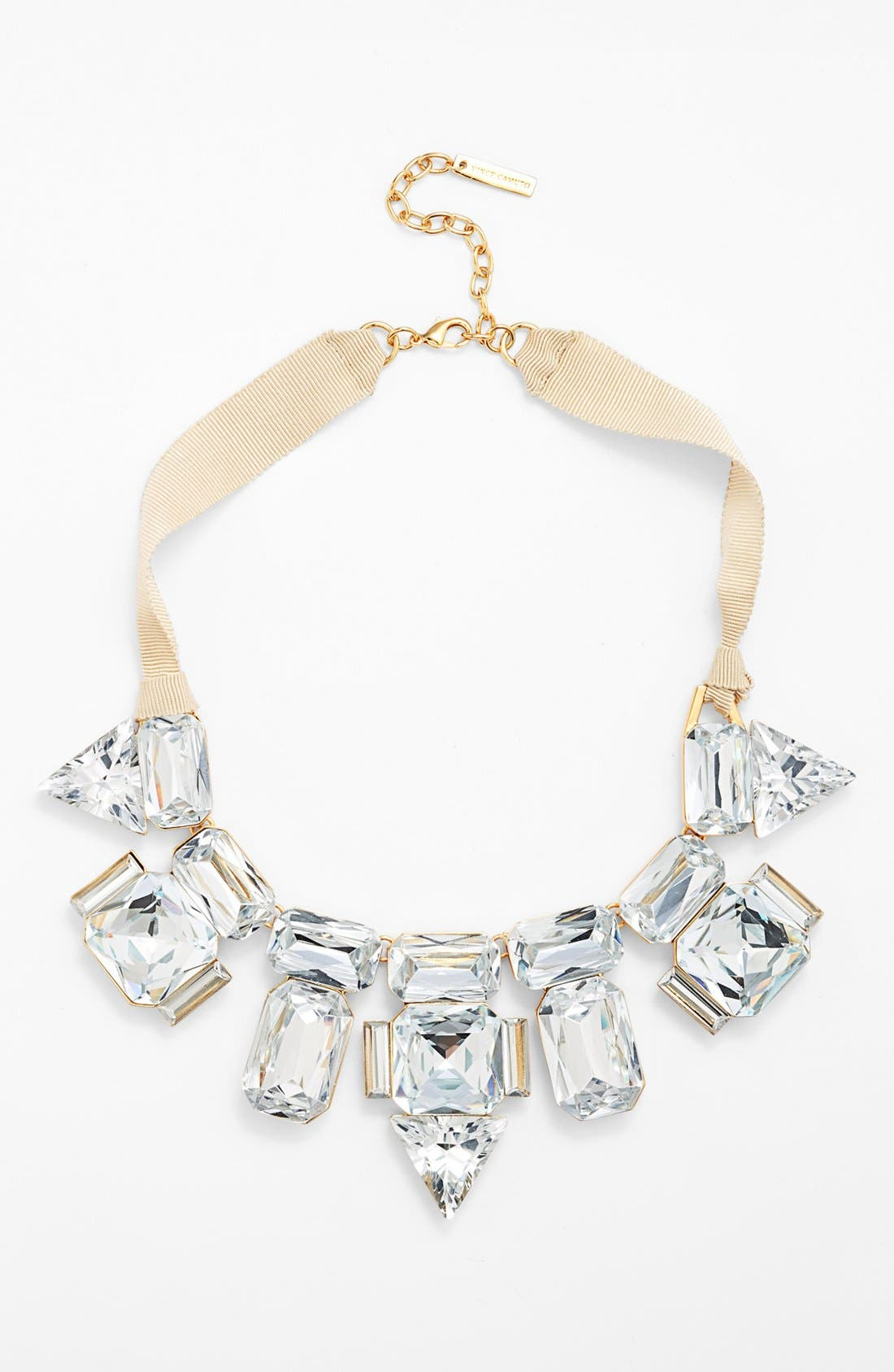 Main Image - Vince Camuto 'Crystal Clear' Crystal & Ribbon Statement Necklace