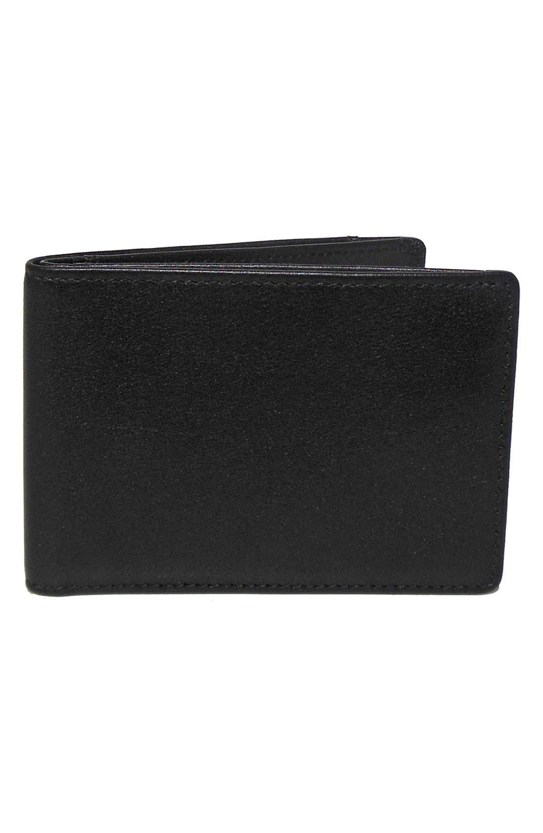 'Grant Slimster' RFID Blocker Leather Wallet,                             Main thumbnail 1, color,                             Black/ Grey