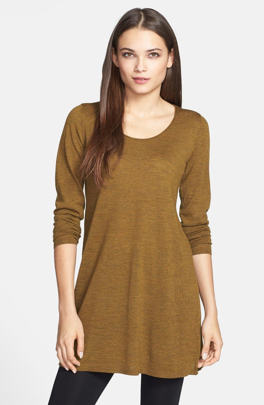 Alternate Image 1 Selected - Eileen Fisher Fine Merino Tunic (Regular & Petite) (Online Only)