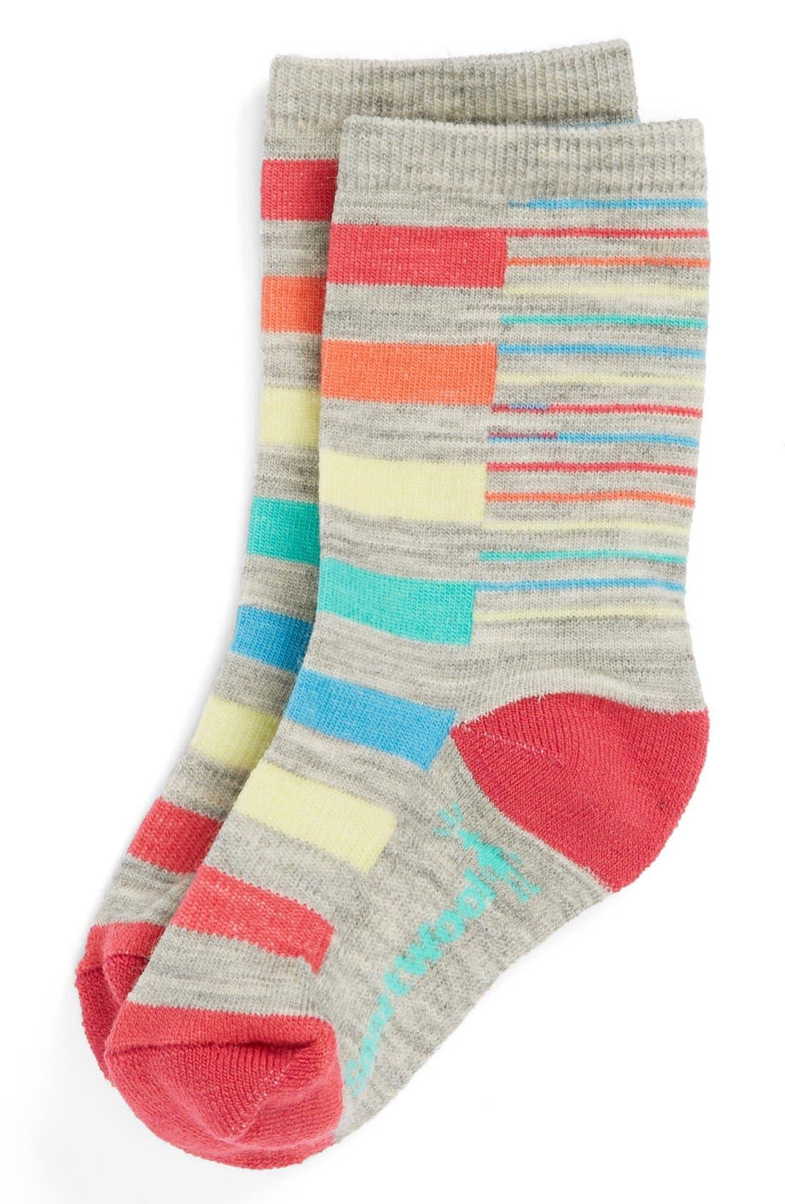 Alternate Image 1 Selected - Smartwool Stripe Socks (Toddler Girls, Little Girls & Big Girls)