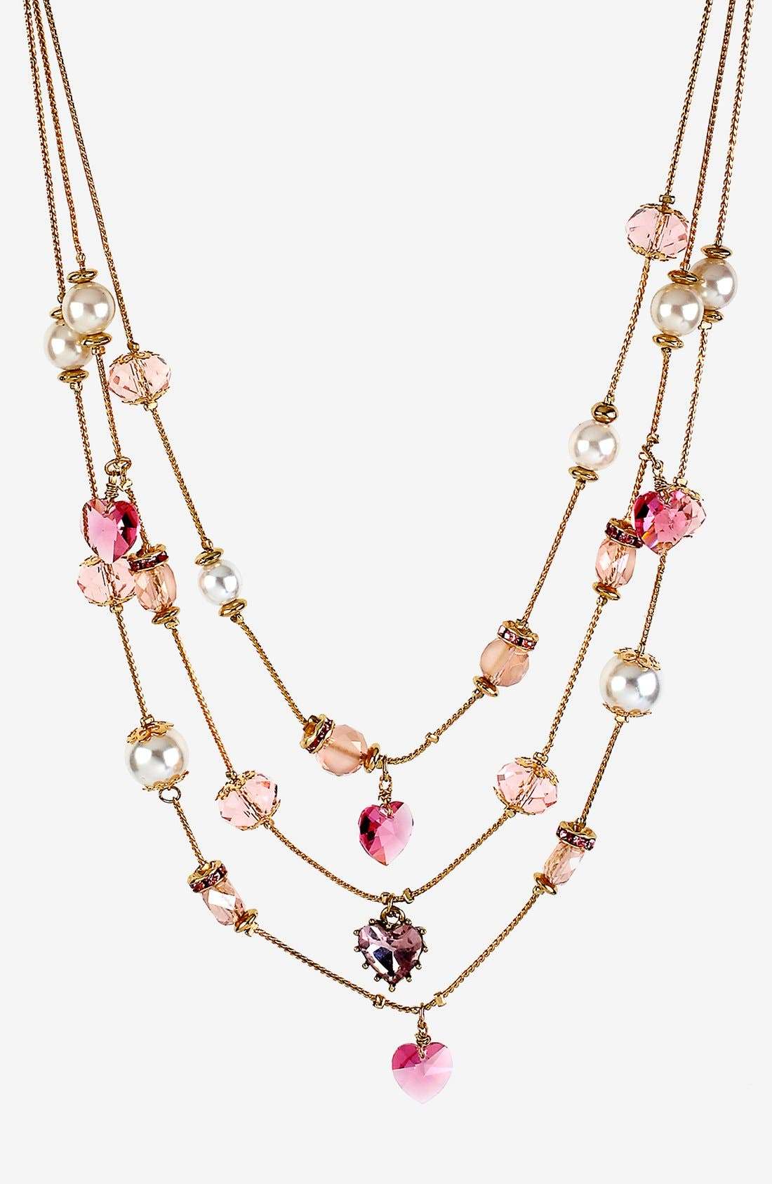 Alternate Image 1 Selected - Betsey Johnson 'Iconic Pinkalicious' Multistrand Necklace
