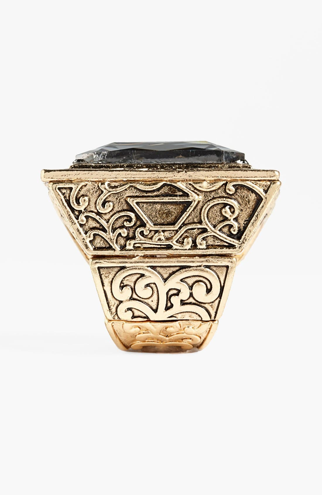 Alternate Image 2  - Natasha Couture Square Statement Ring
