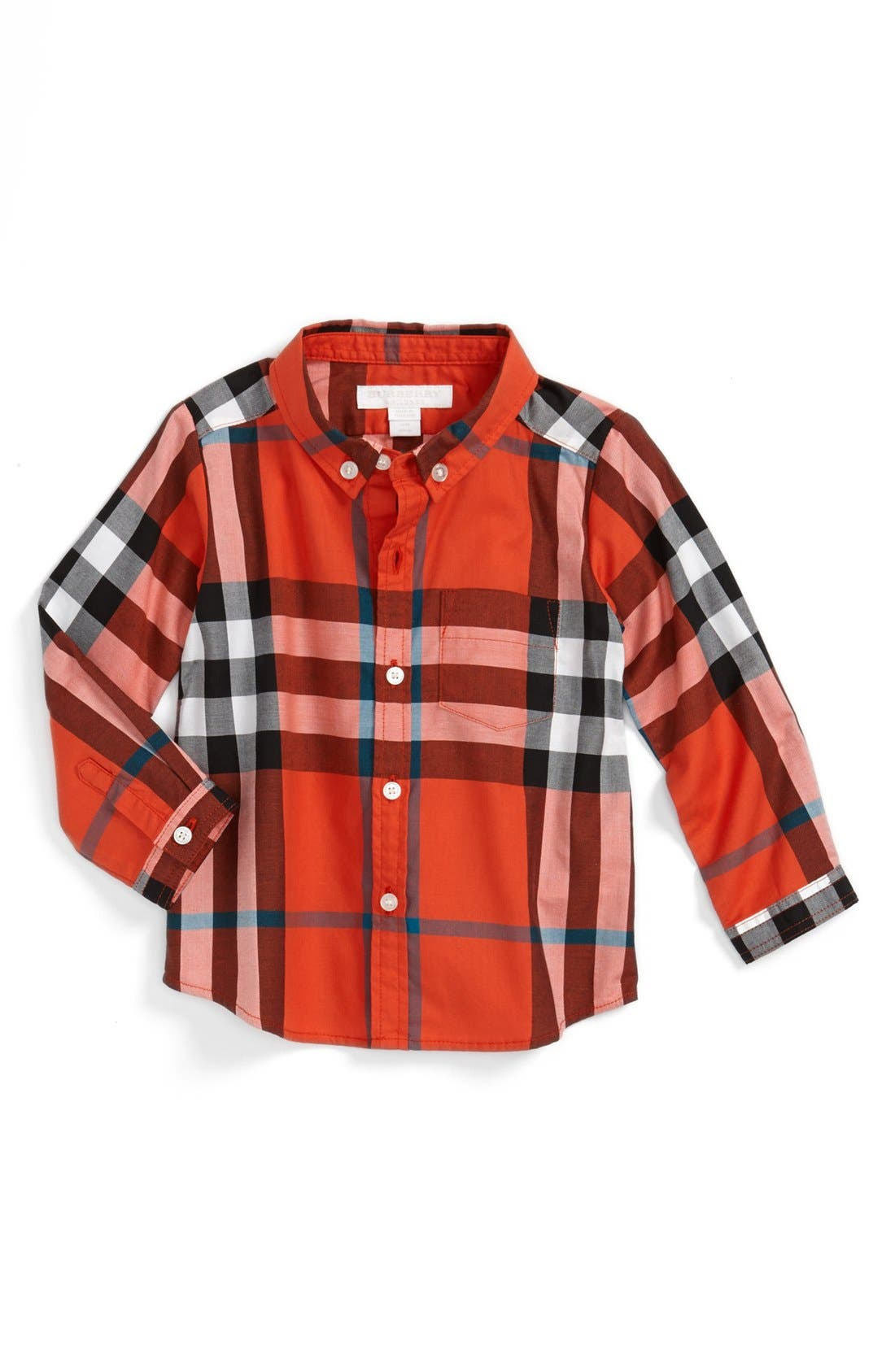 Main Image - Burberry 'Mini Fred' Woven Shirt (Baby Boys)