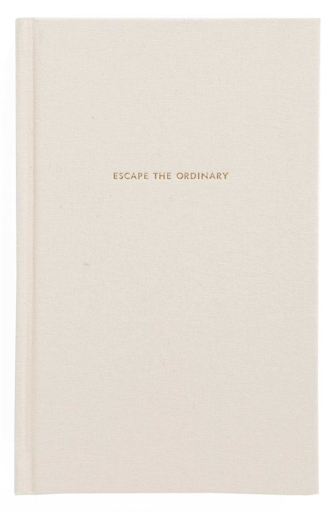 'escape the ordinary' journal,                             Main thumbnail 1, color,                             Blush