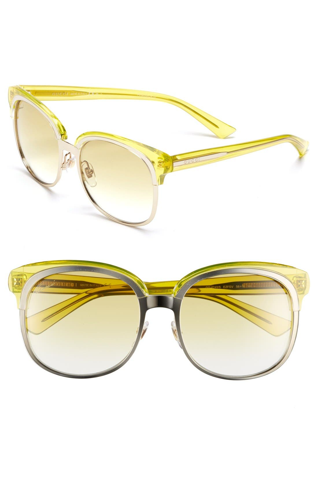 Main Image - Gucci 56mm Sunglasses