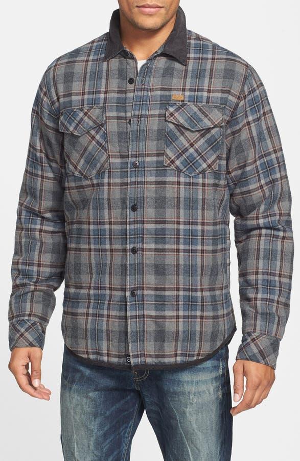 RVCA 'Frostline' Plaid Flannel Shirt Jacket with Quilted Lining ... : quilted lined flannel shirt - Adamdwight.com