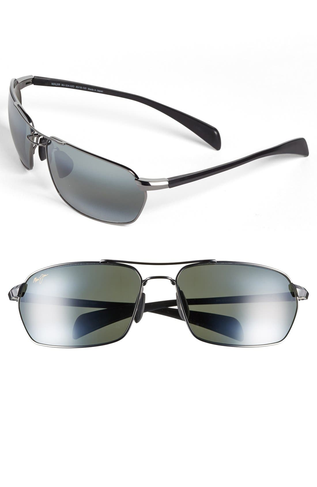 'Maliko Gulch - PolarizedPlus<sup>®</sup>2' 65mm Sunglasses,                         Main,                         color, Gunmetal