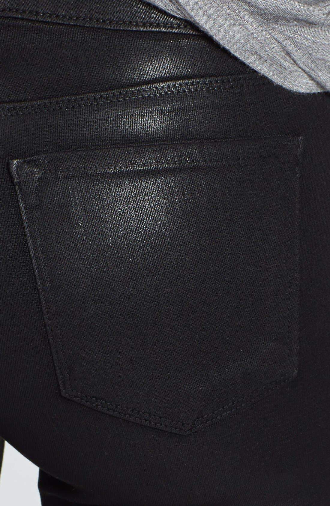 Alternate Image 3  - J Brand '1446 Carey' Moto Skinny Crop Pants (Lacquered Black)