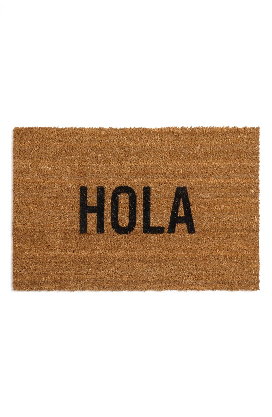 'Hola' Doormat,                             Main thumbnail 1, color,                             Brown