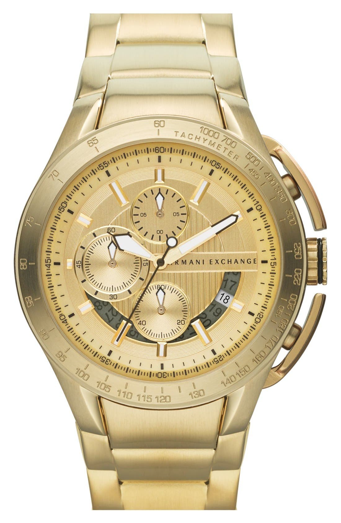 Main Image - AX Armani Exchange Aluminum Accent Bracelet Watch, 45mm