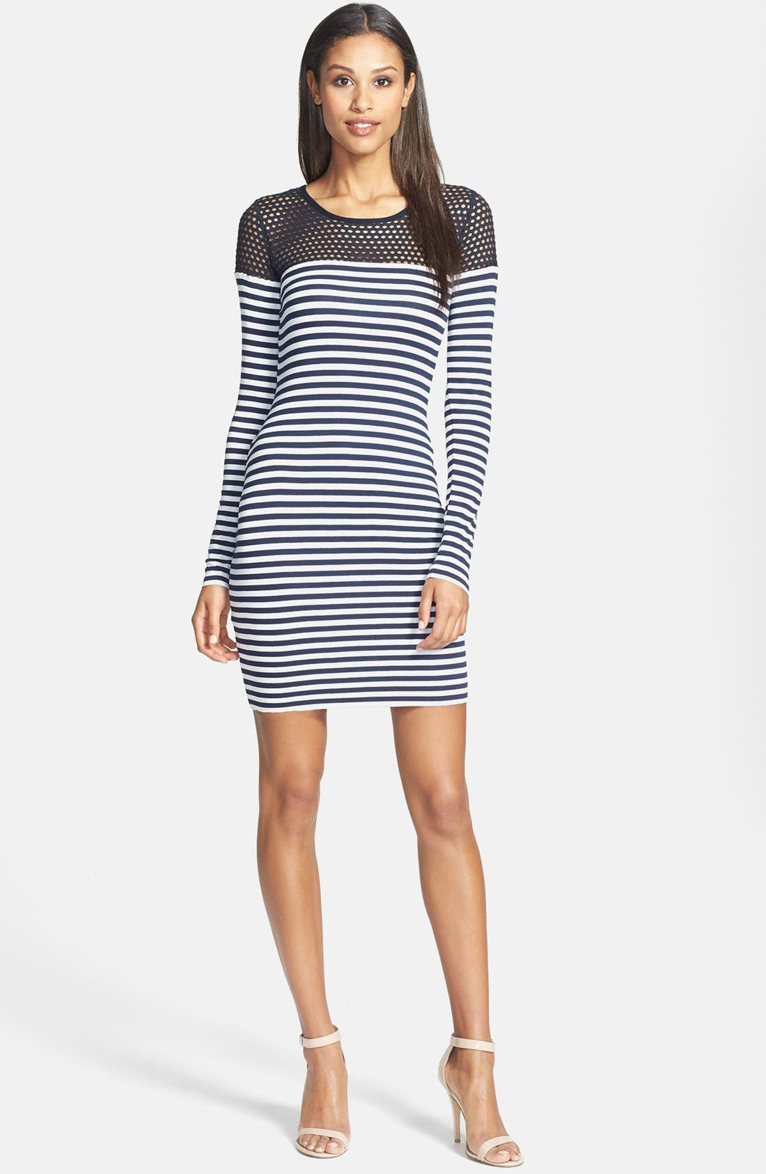 Alternate Image 1 Selected - B44 Dressed by Bailey 44 'Open Net' Stripe Jersey Dress