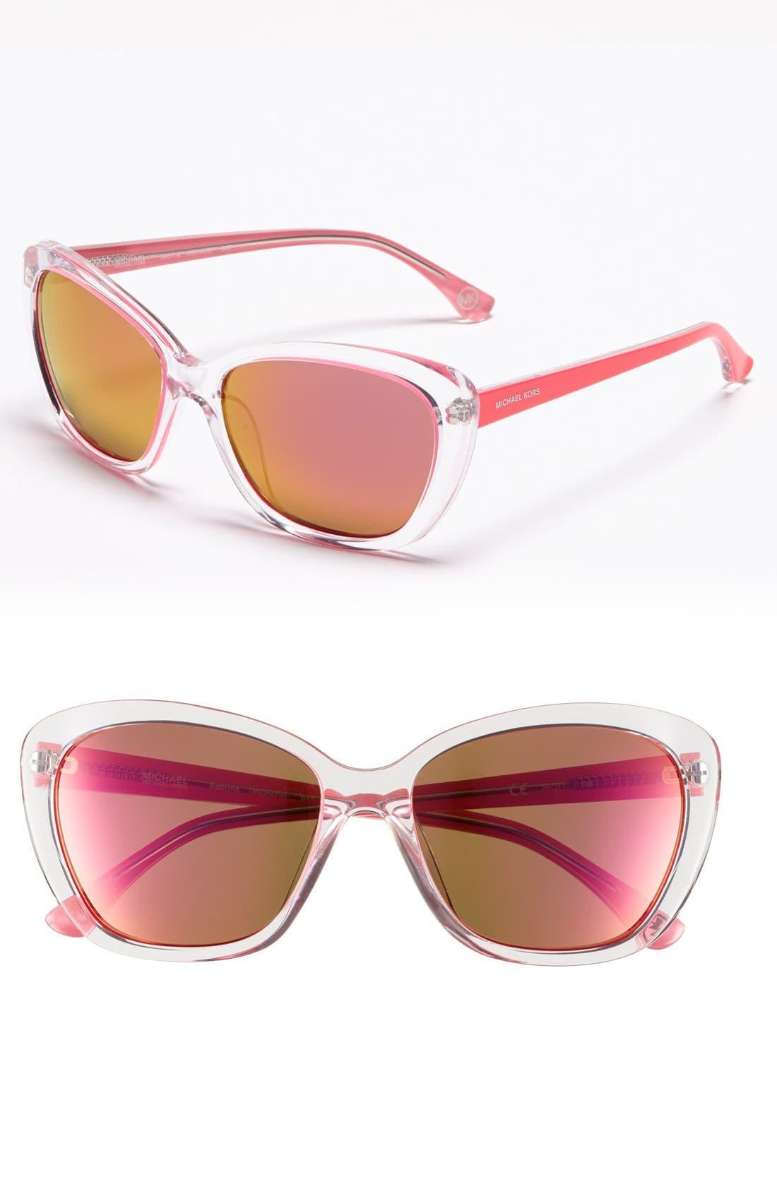 Main Image - MICHAEL Michael Kors 56mm Retro Cat's Eye Sunglasses