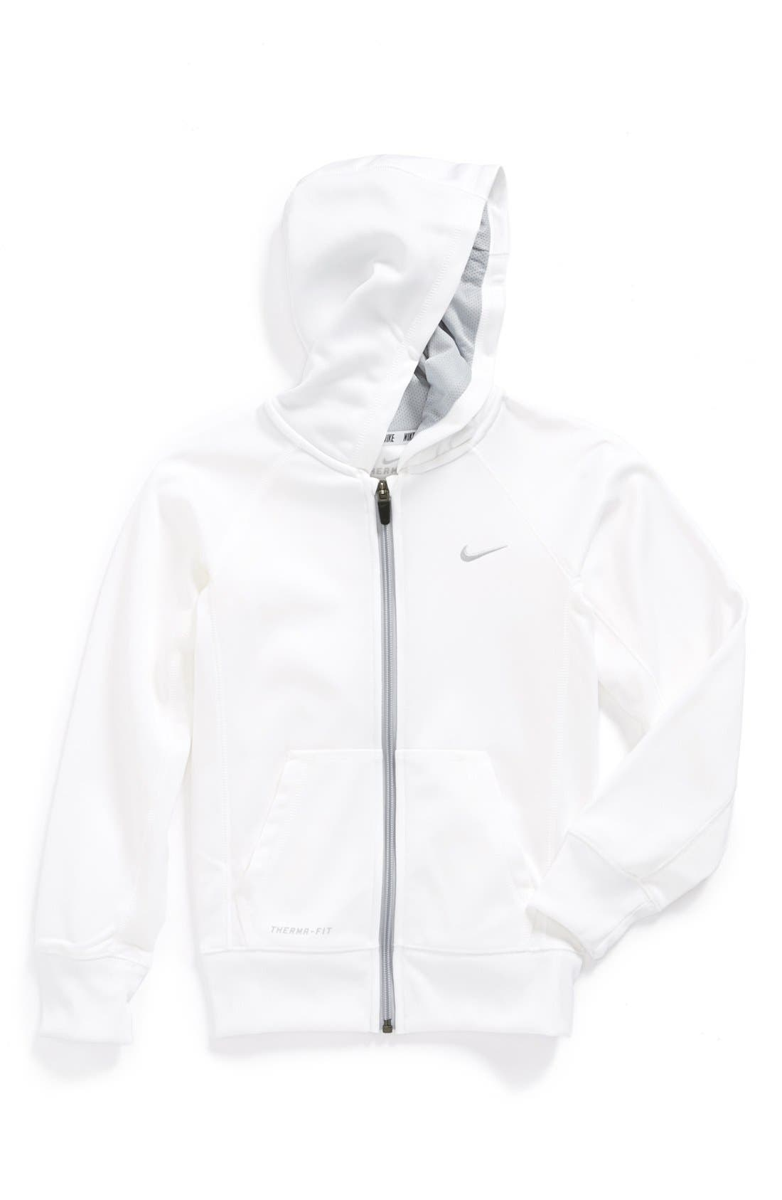 Alternate Image 1 Selected - Nike Therma-FIT Hoodie (Little Girls & Big Girls)