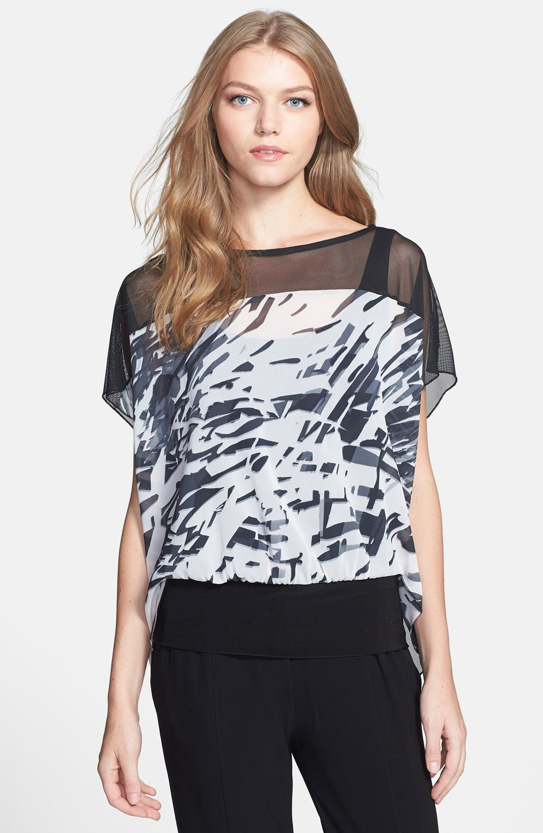 Alternate Image 1 Selected - Komarov Mixed Media Print Top with Tank
