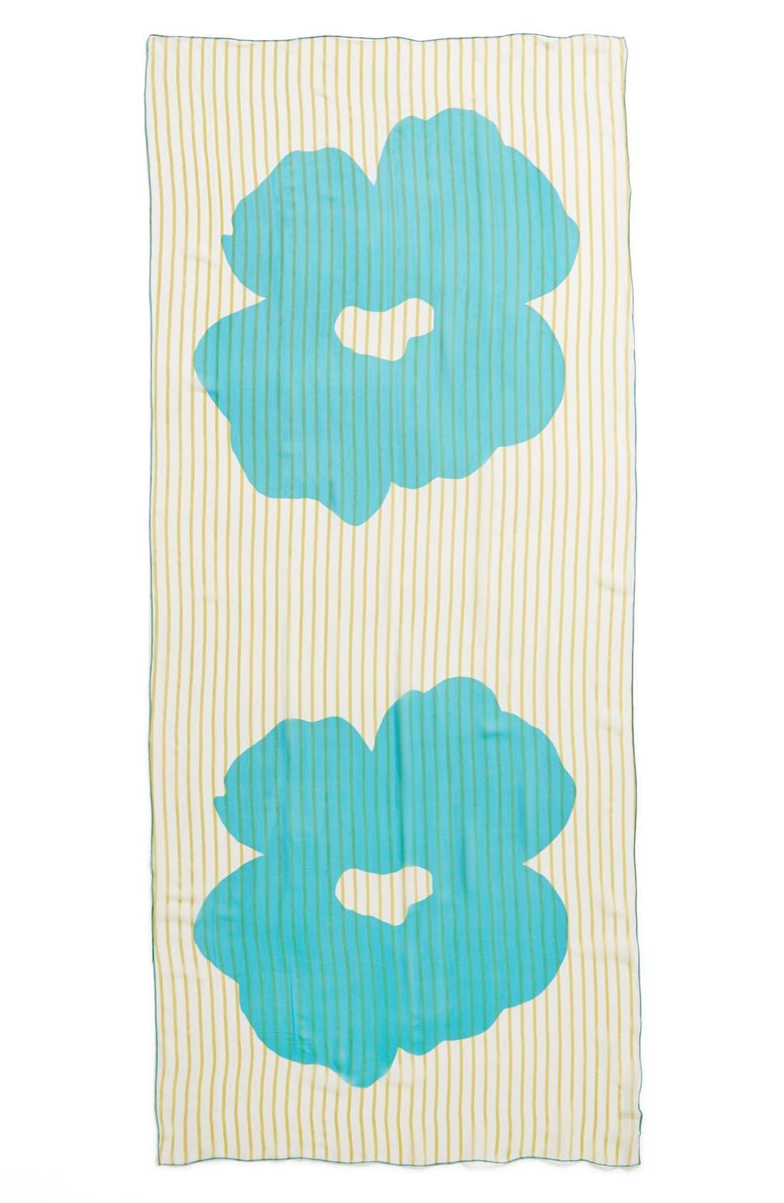 Alternate Image 2  - Nordstrom Floral Silk Scarf