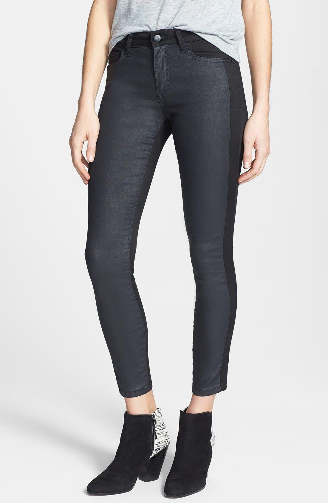 Main Image - Joe's 'The Oblique' Contrast Panel Crop Skinny Jeans (Kathy)