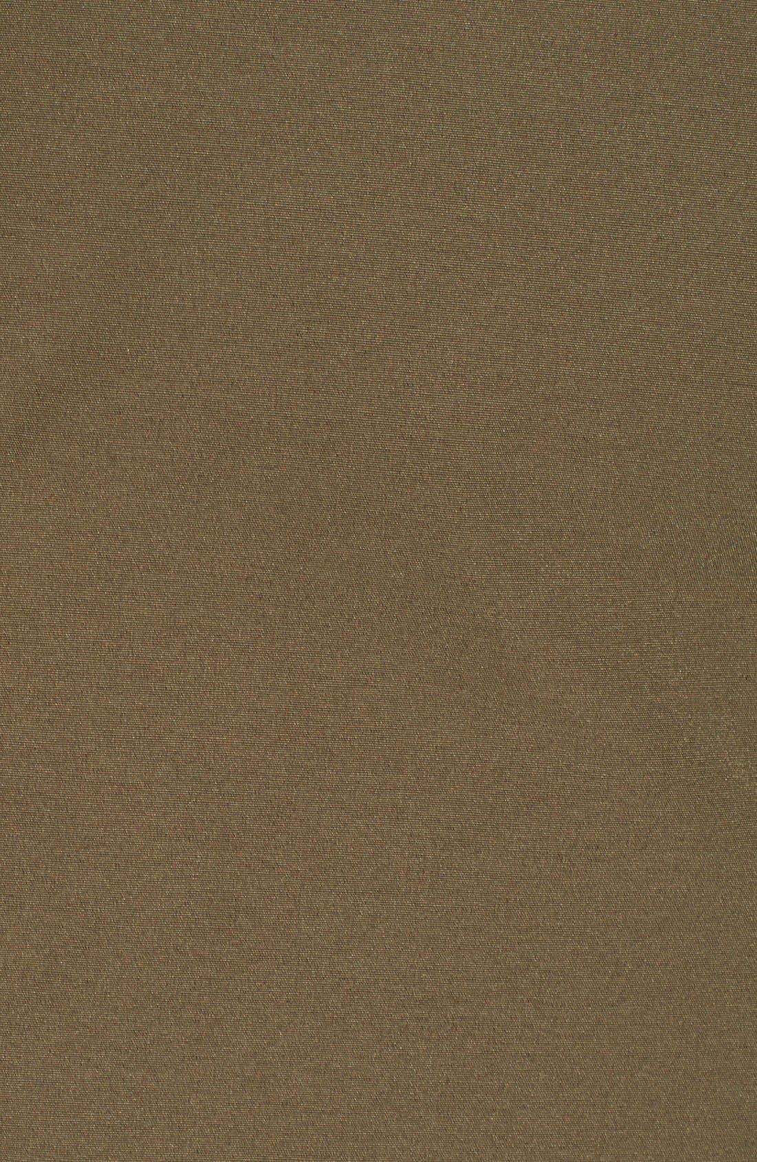 'Chateau' Slim Fit Genuine Coyote Fur Trim Jacket,                             Alternate thumbnail 3, color,                             Military Green
