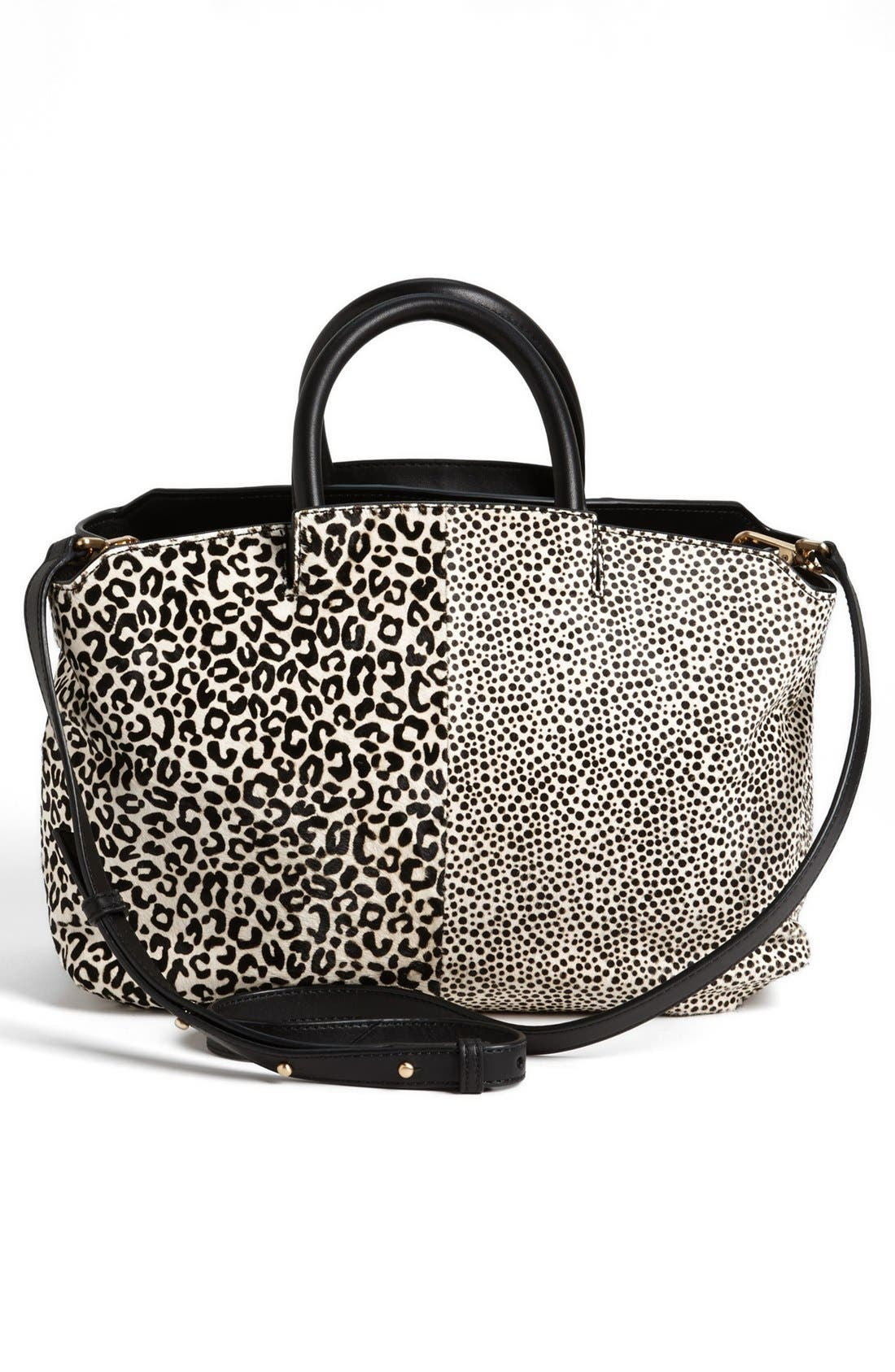 Alternate Image 4  - B Brian Atwood 'Gena' Animal Pattern Calf Hair Tote, Medium