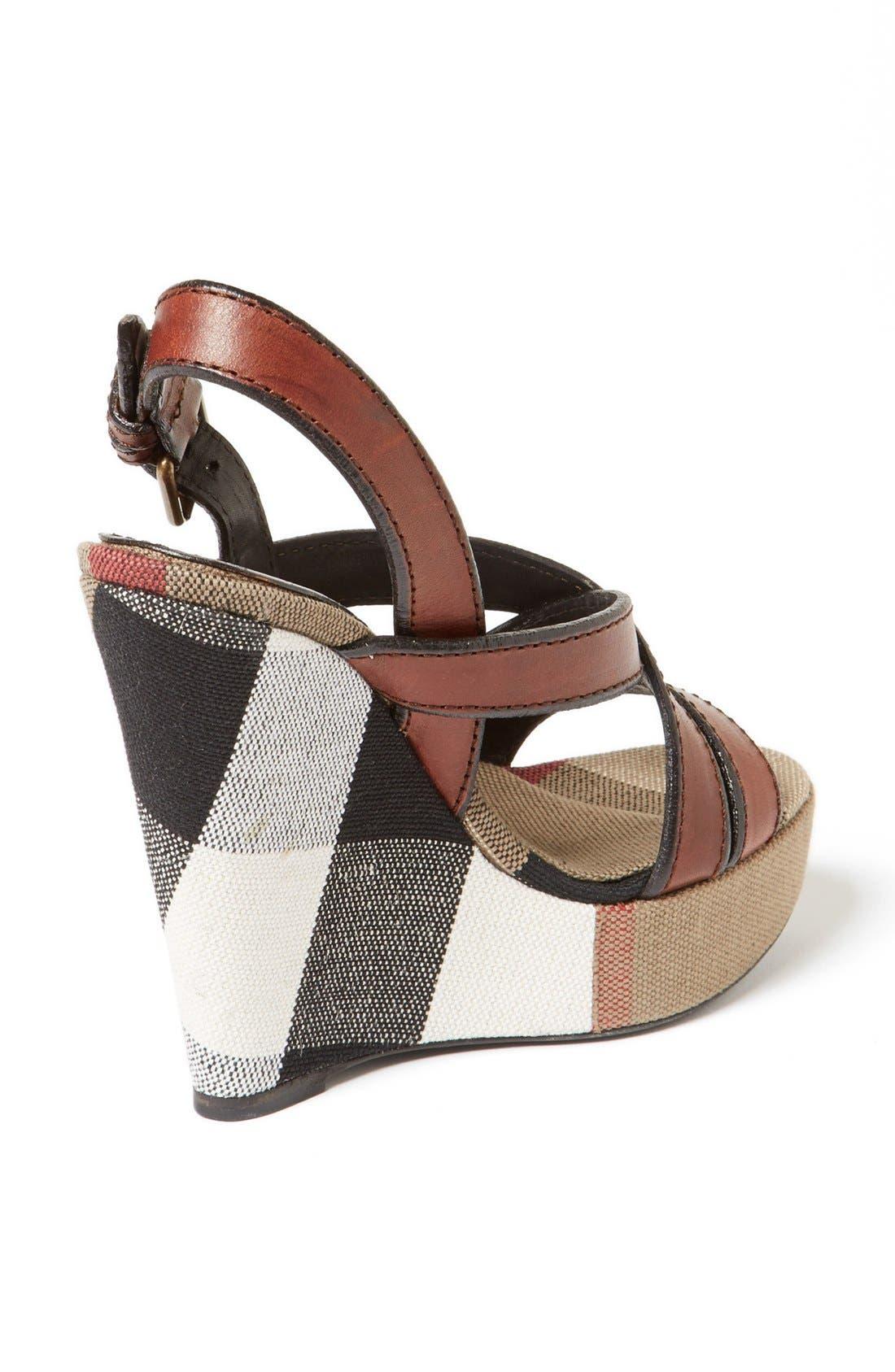 Alternate Image 2  - Burberry 'Warlow' Leather Sandal