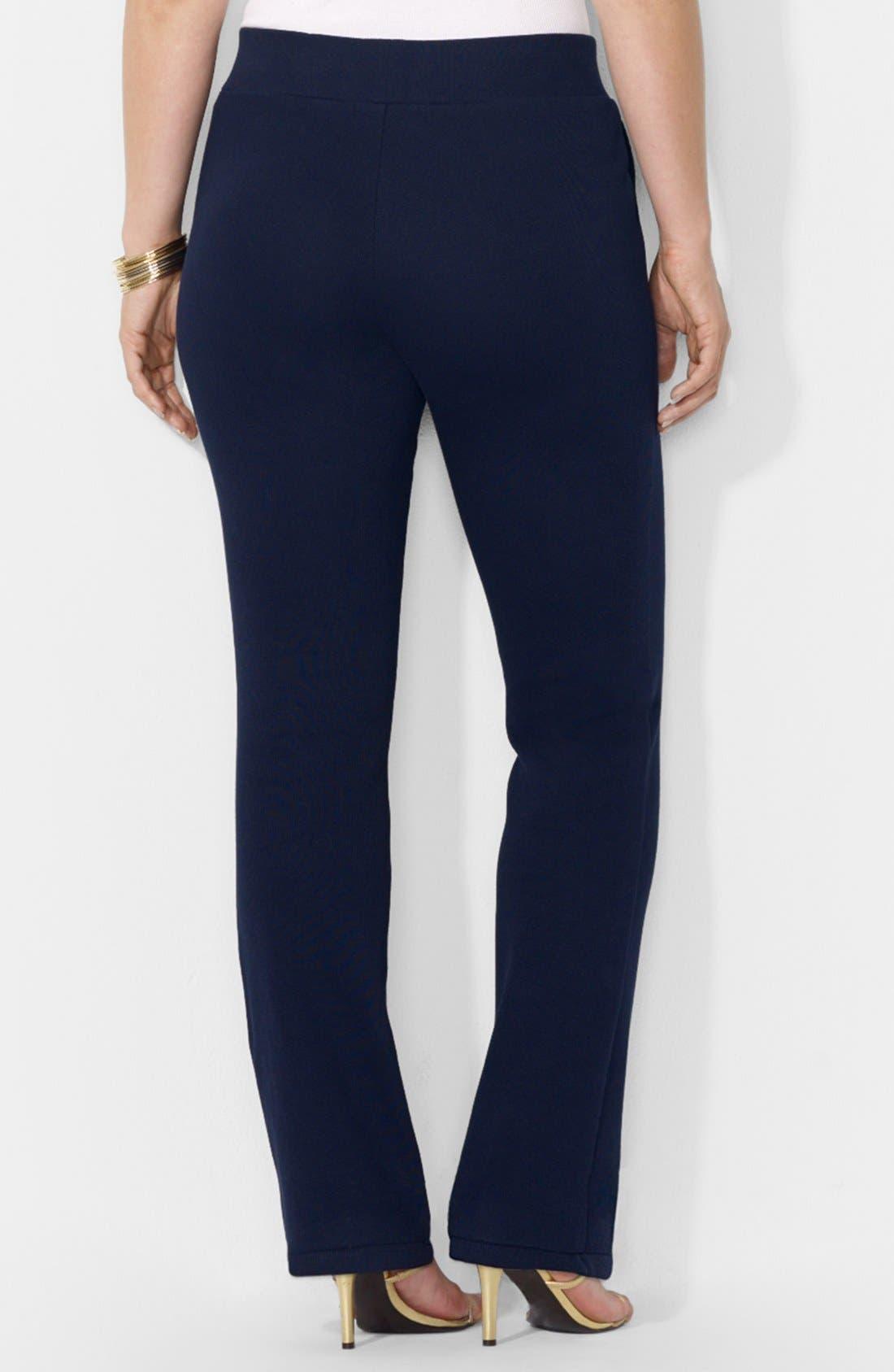 Alternate Image 2  - Lauren Ralph Lauren Knit Pants (Plus Size)