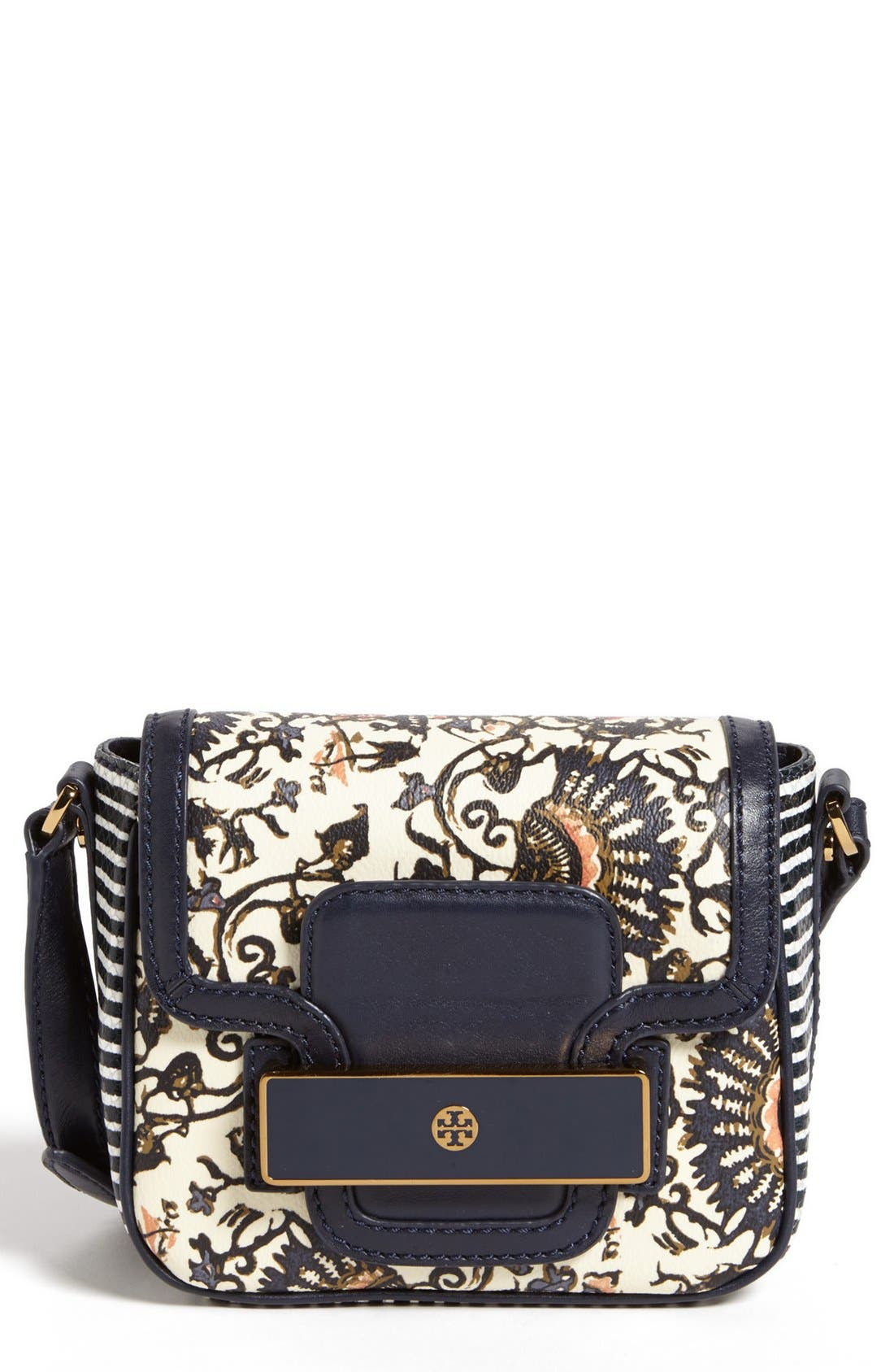 Alternate Image 1 Selected - Tory Burch 'Jeweled' Leather Crossbody Bag