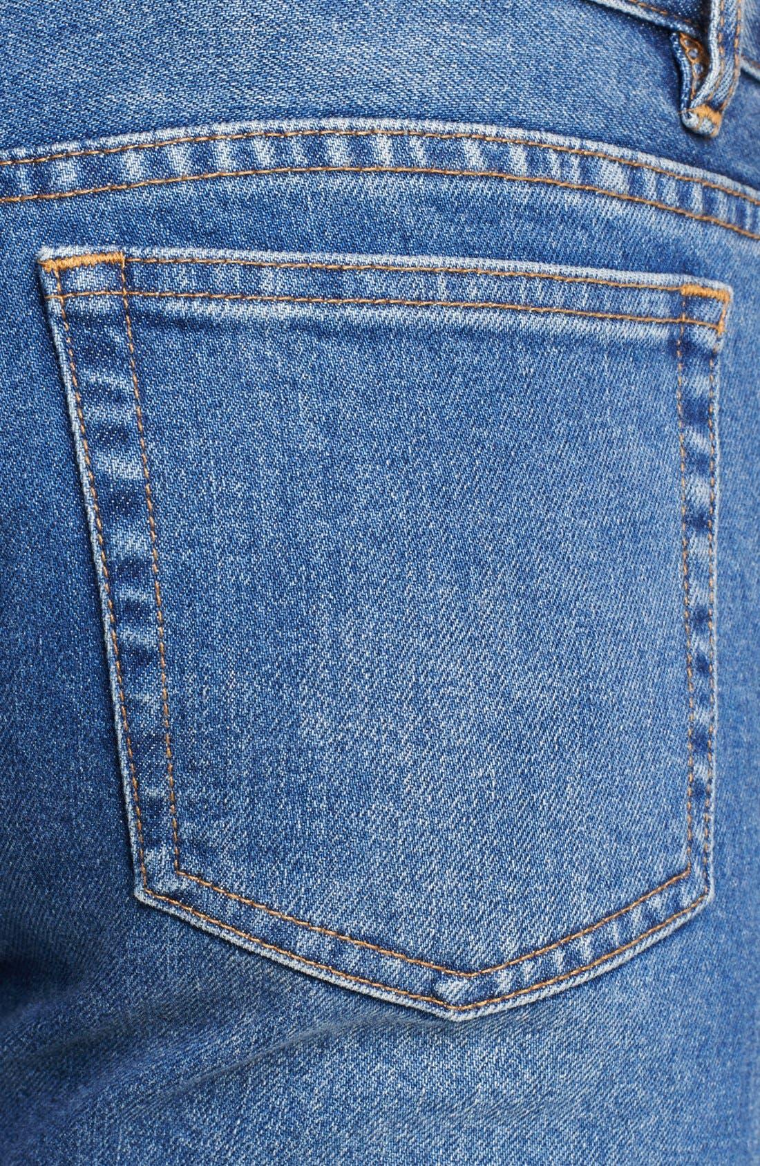 Alternate Image 3  - A.P.C. 'Petit New Standard' Skinny Fit Jeans (Denim Blue)