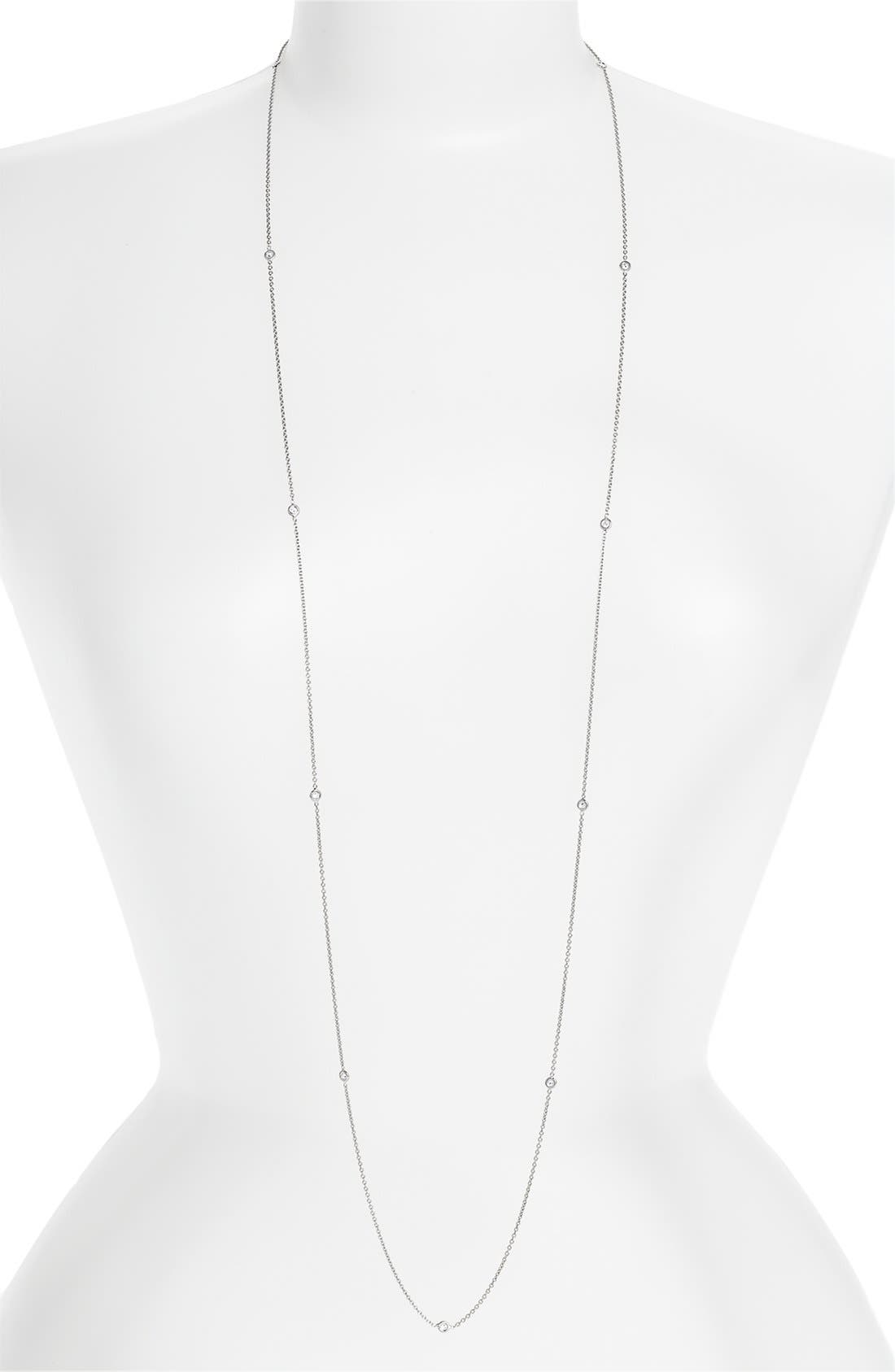 Main Image - Roberto Coin Diamond Station Necklace (Nordstrom Exclusive)