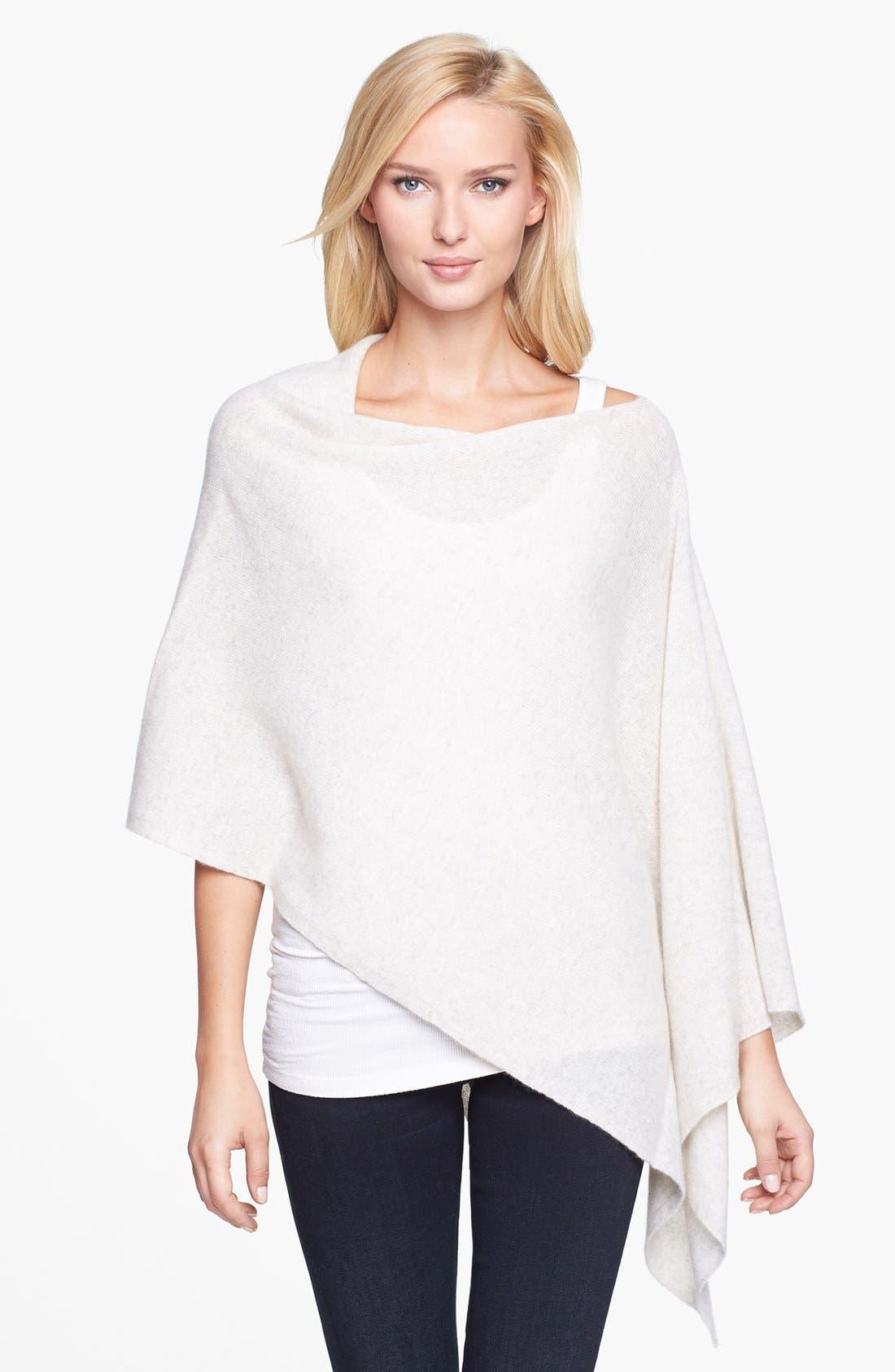 Alternate Image 1 Selected - White + Warren Asymmetrical Cashmere Poncho