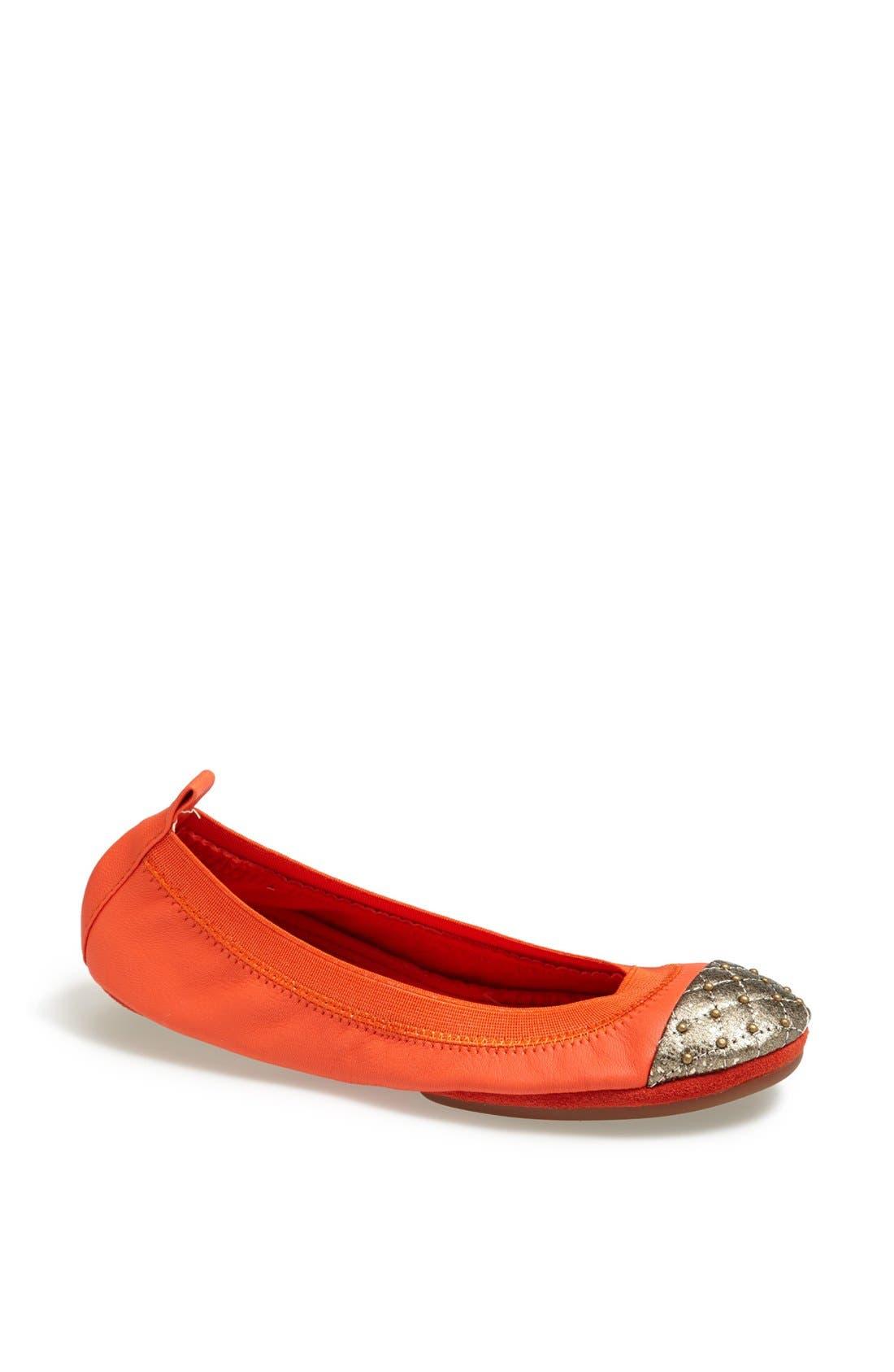 Alternate Image 1 Selected - Yosi Samra Studded Cap Toe Foldable Ballet Flat