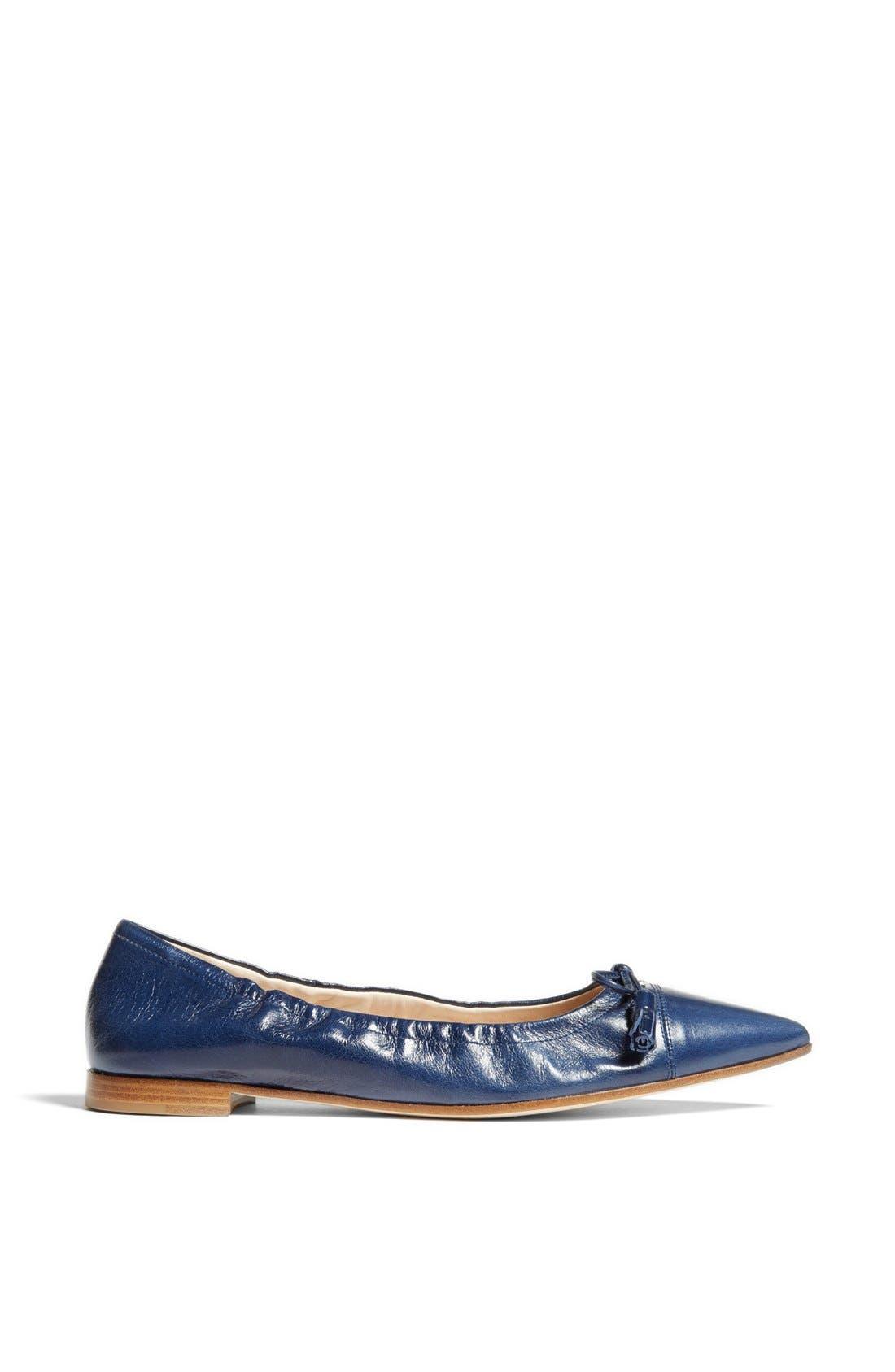Alternate Image 4  - Prada Pointy Toe Ballerina Flat