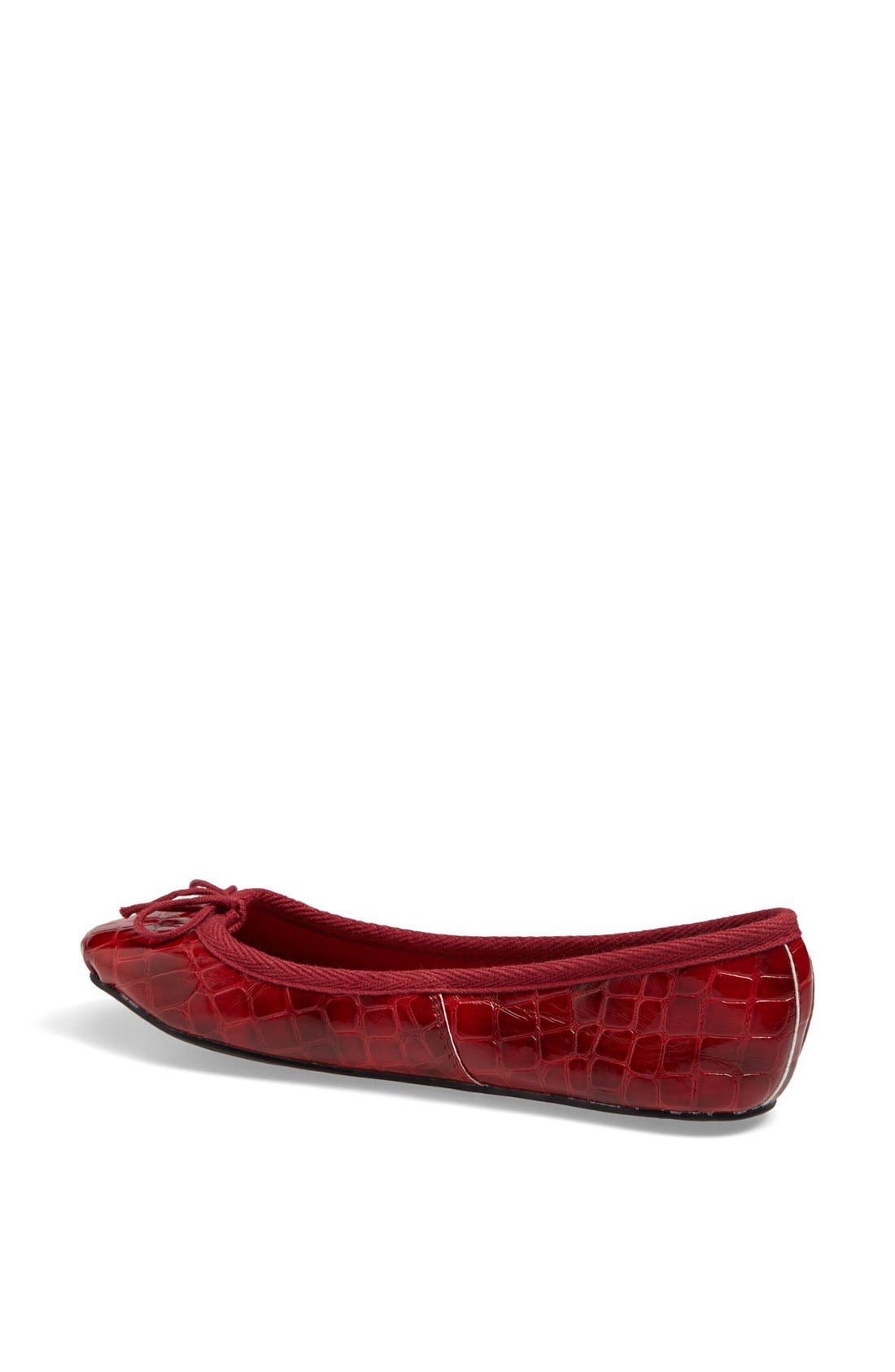 Alternate Image 2  - Topshop 'Vibrant' Croc Embossed Ballerina Flat