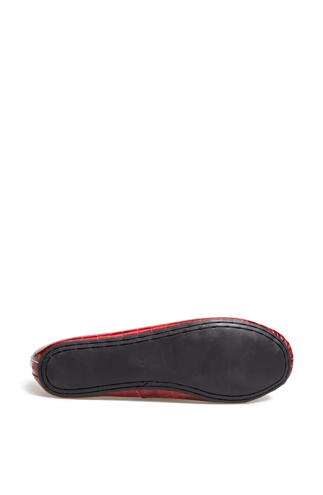 Alternate Image 4  - Topshop 'Vibrant' Croc Embossed Ballerina Flat