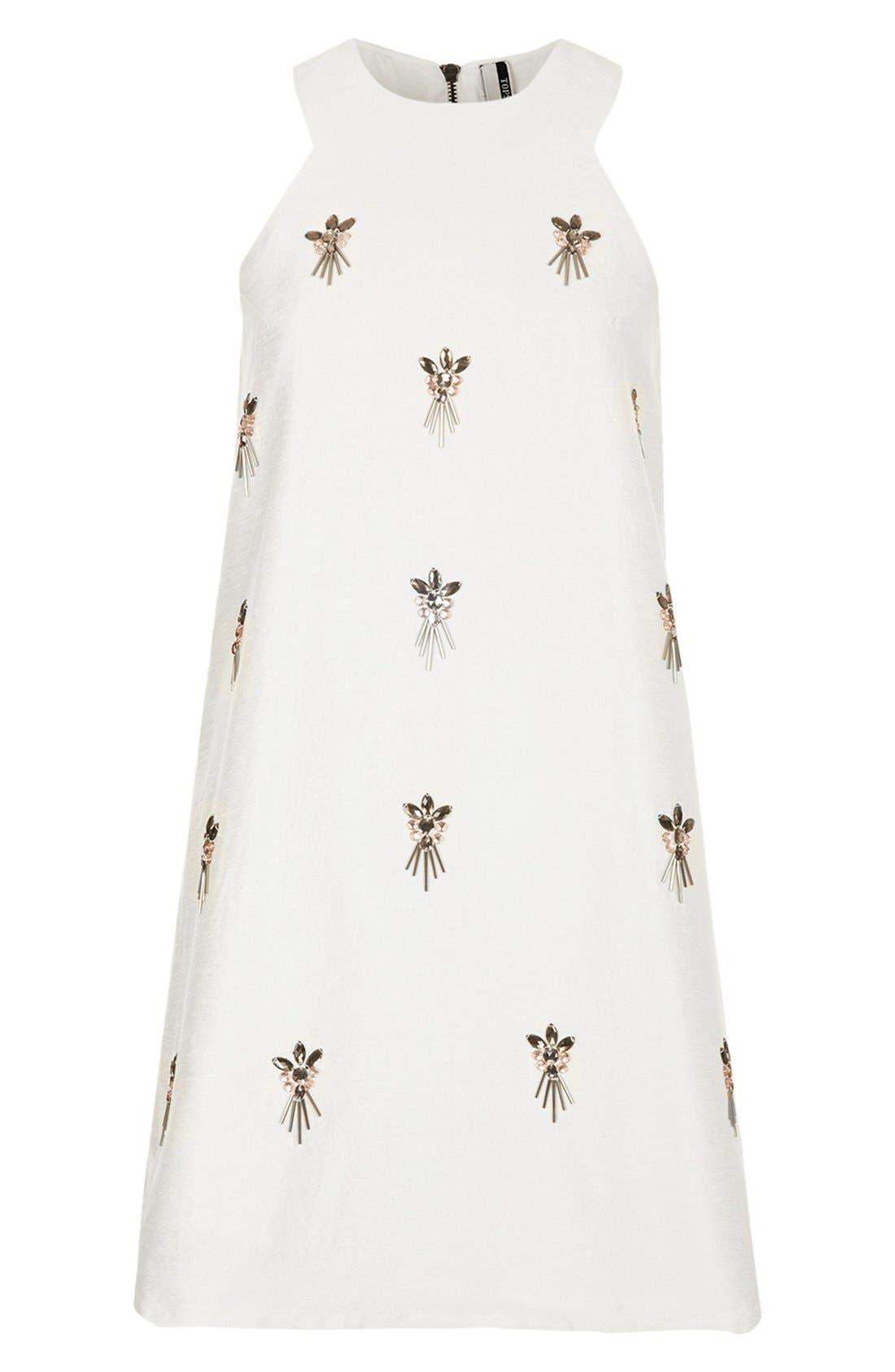 Alternate Image 3  - Topshop Embellished A-Line Dress