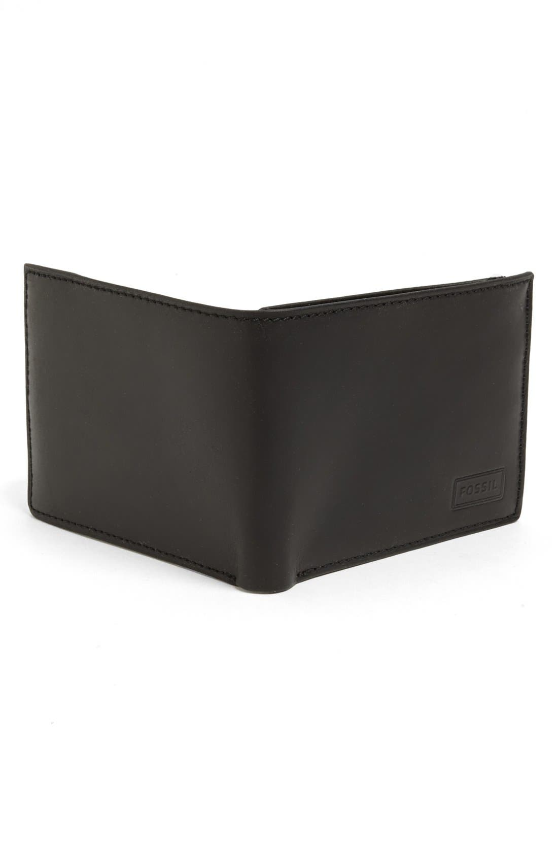 Alternate Image 3  - Fossil 'Traveler' Leather Wallet