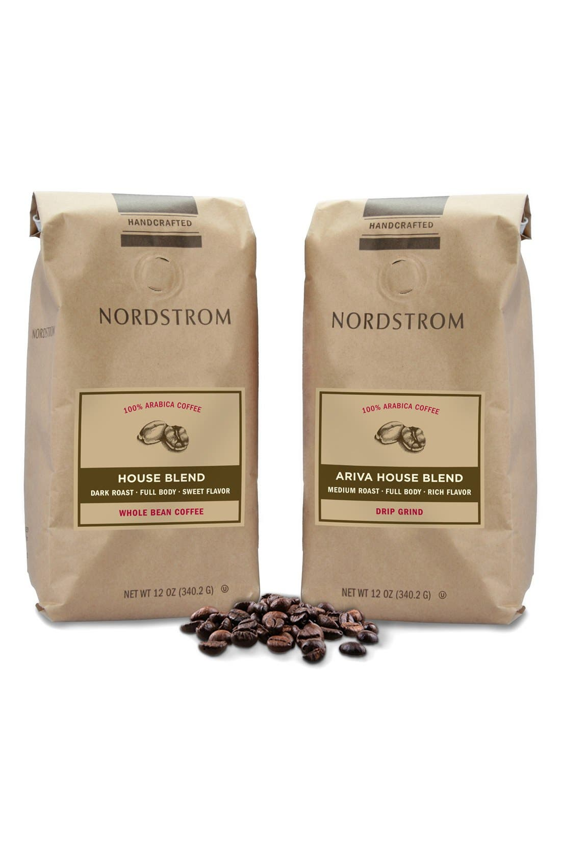 Nordstrom Coffee 'House Blend' Whole Bean Coffee & 'Ariva House Blend' Ground Coffee (2-Pack)