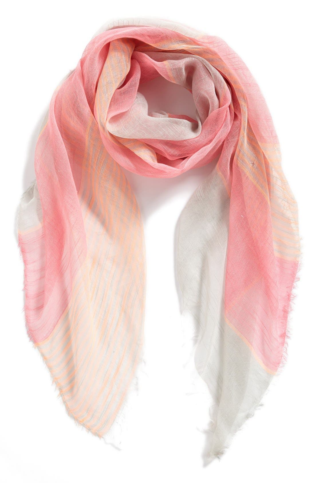Alternate Image 1 Selected - BP. Stripe Sheer Woven Scarf (Juniors)